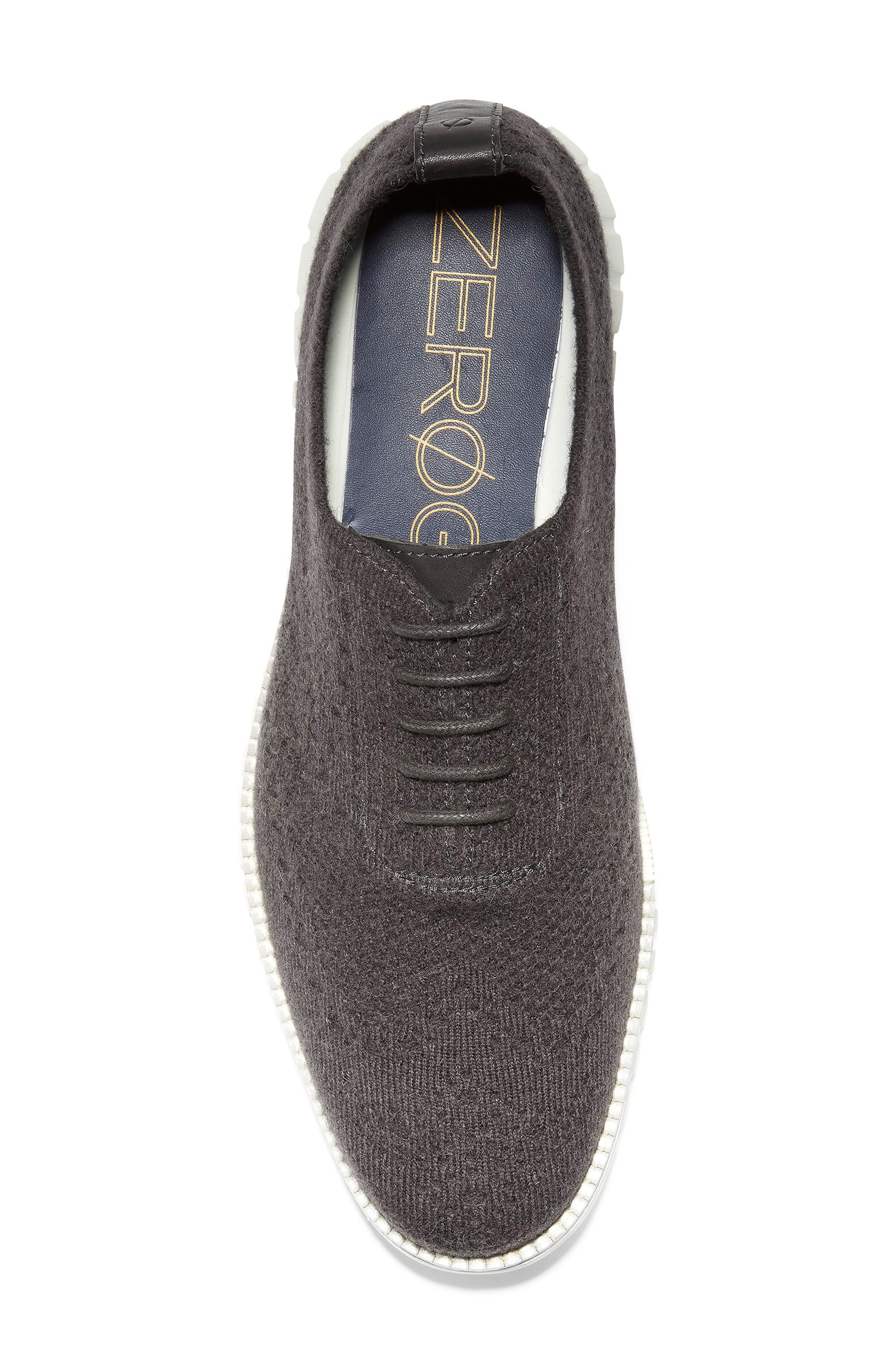 ZeroGrand Stitchlite<sup>™</sup> Water Resistant Wool Oxford,                             Alternate thumbnail 5, color,                             DARK ROAST WOOL KNIT/ IVORY