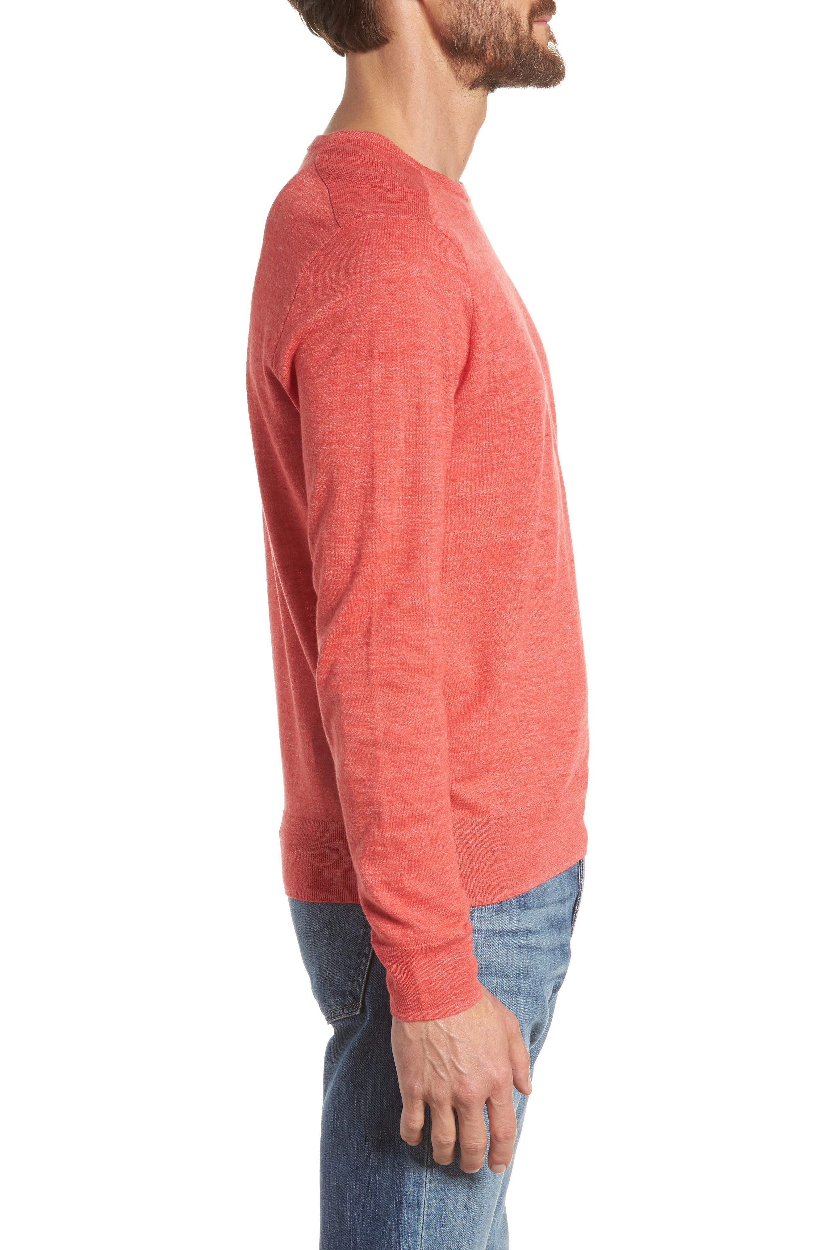 Cotton Blend Crewneck Sweater,                             Alternate thumbnail 12, color,