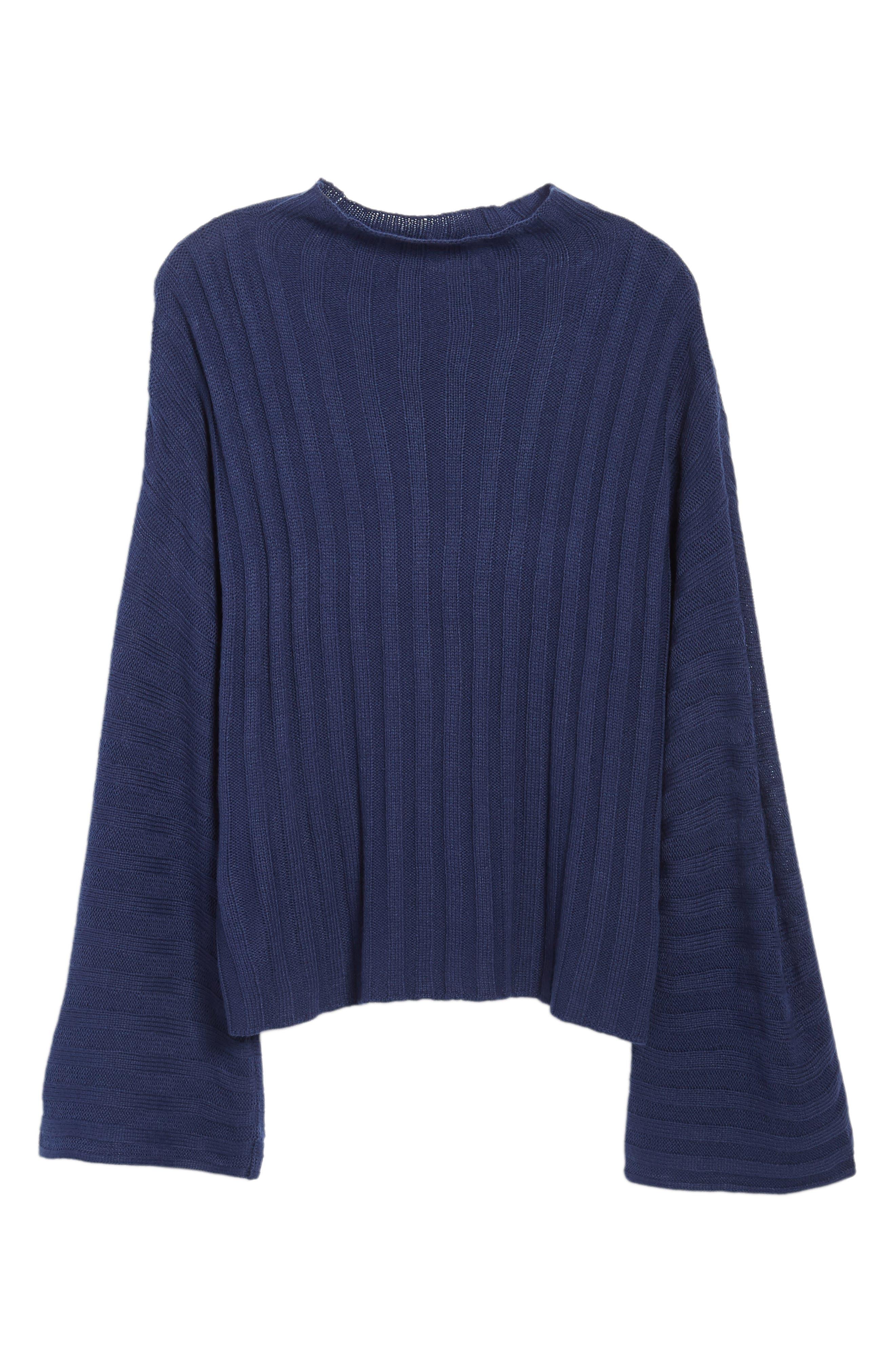 Wide Rib Mock Neck Sweater,                             Alternate thumbnail 17, color,