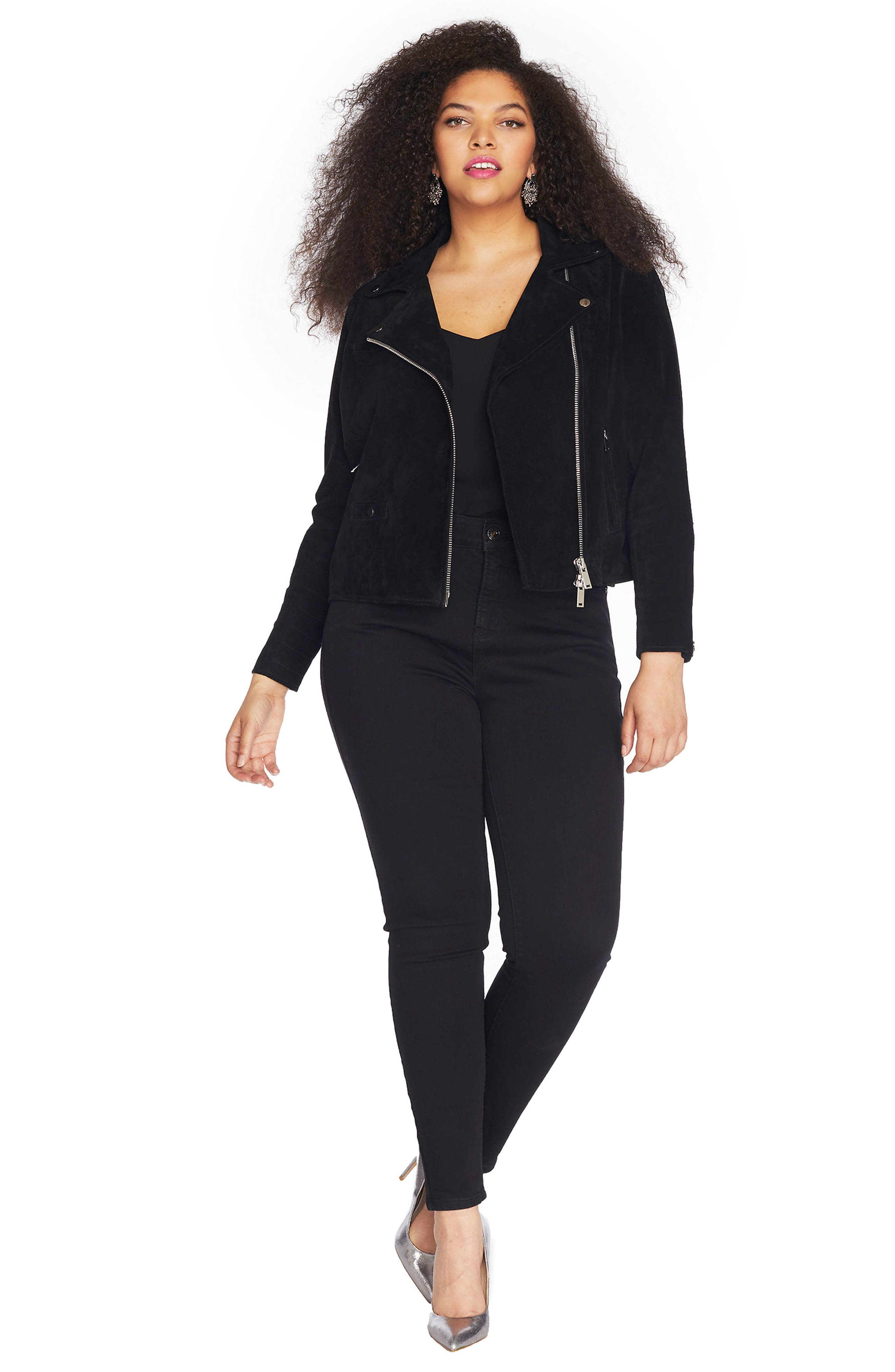 Suede Moto Jacket,                             Alternate thumbnail 10, color,