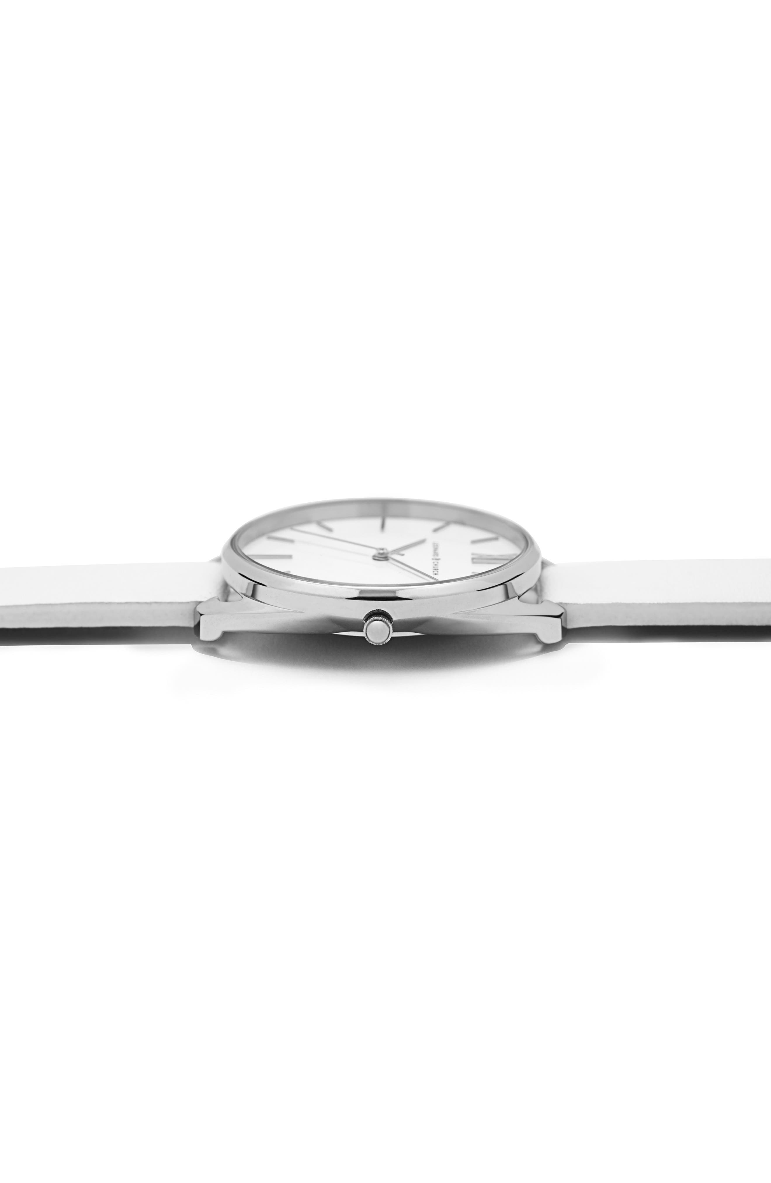 Leonard & Church Chelsea Leather Strap Watch, 34mm,                             Alternate thumbnail 14, color,