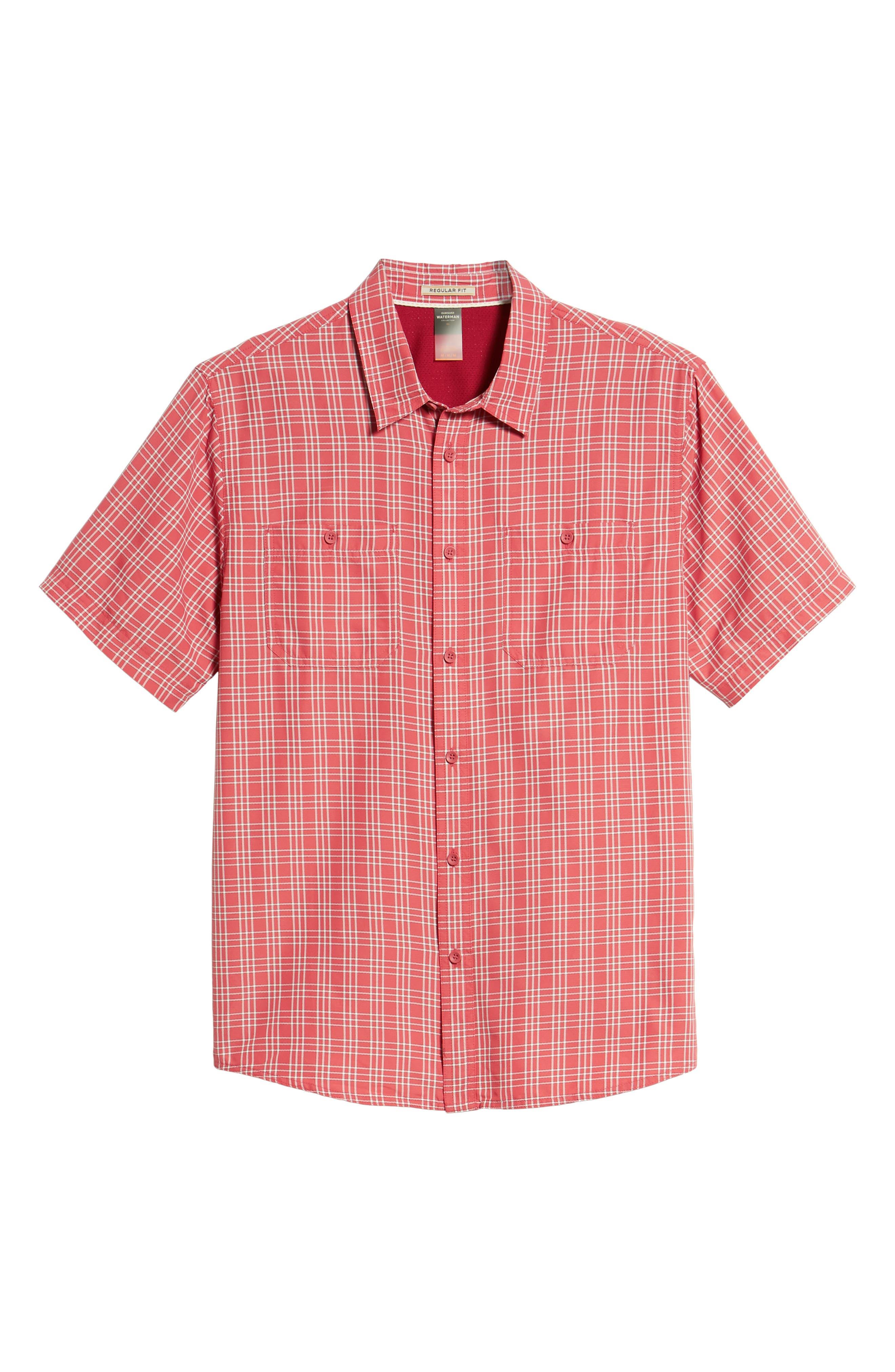 Wake Plaid Regular Fit Performance Sport Shirt,                             Alternate thumbnail 6, color,                             600
