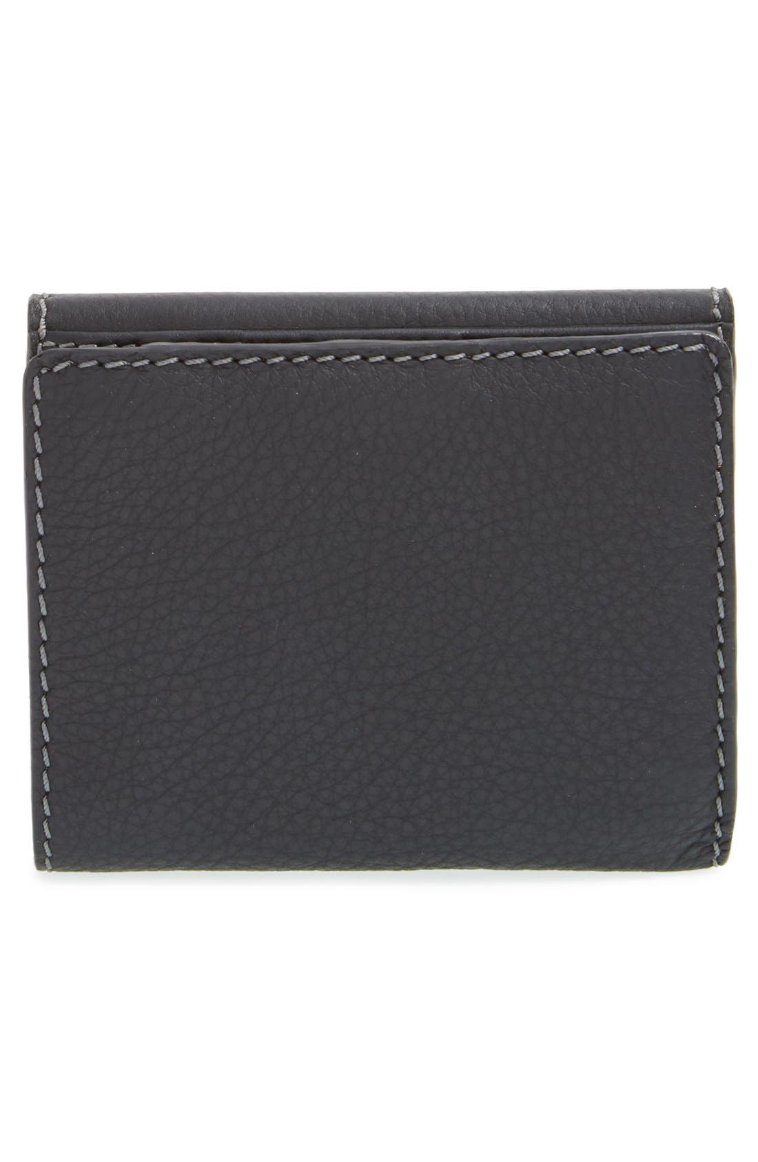 CHLOÉ,                             'Marcie' French Wallet,                             Alternate thumbnail 4, color,                             BLACK