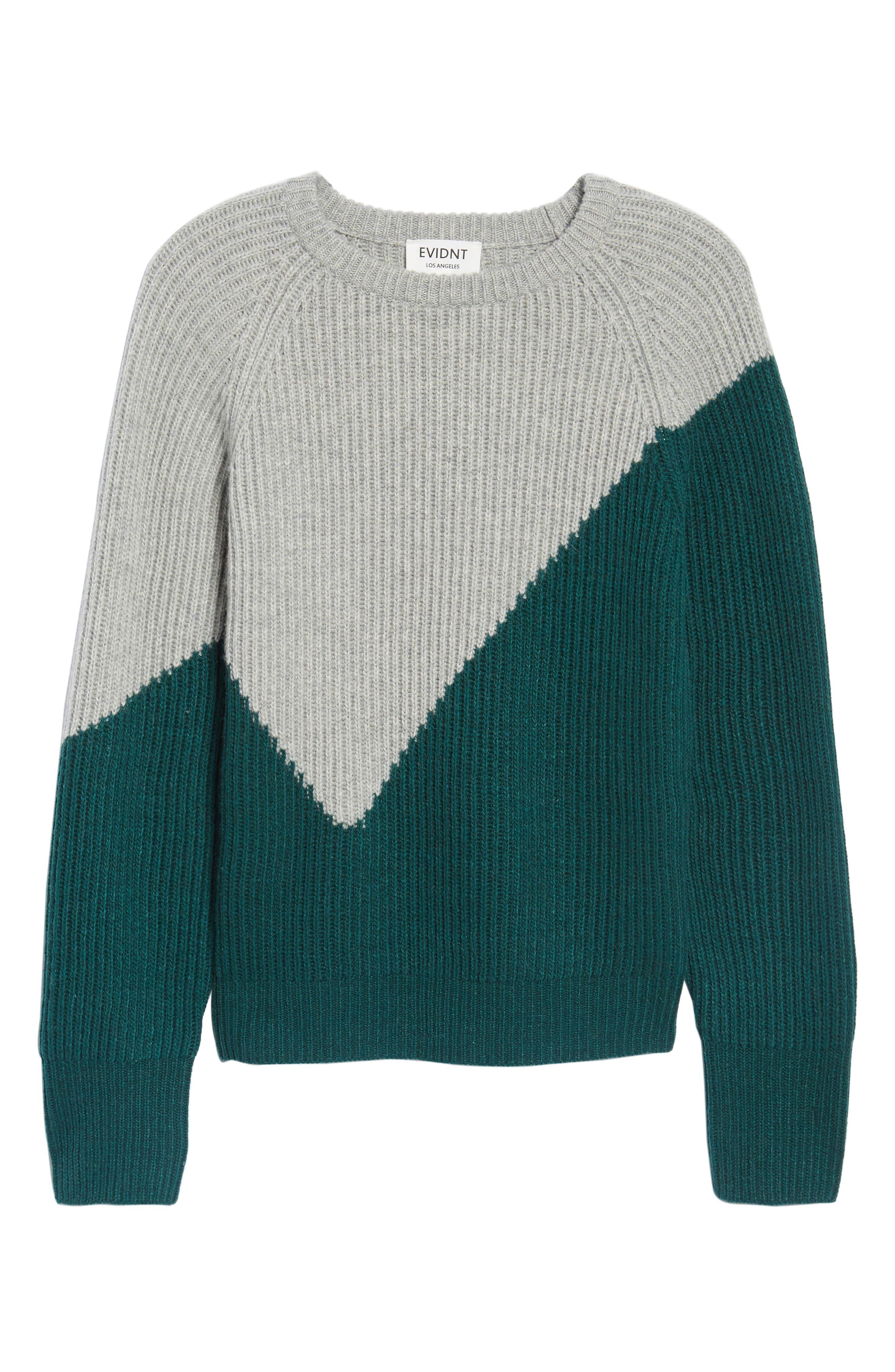 Unbalanced Pattern Wool Blend Sweater,                             Alternate thumbnail 6, color,                             313
