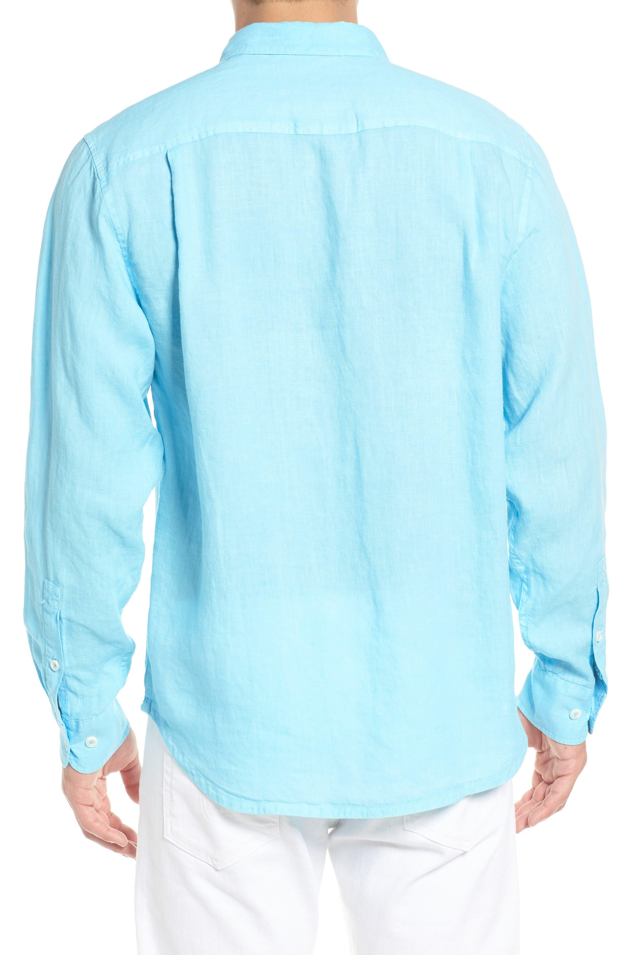 Seaspray Breezer Linen Shirt,                             Alternate thumbnail 8, color,