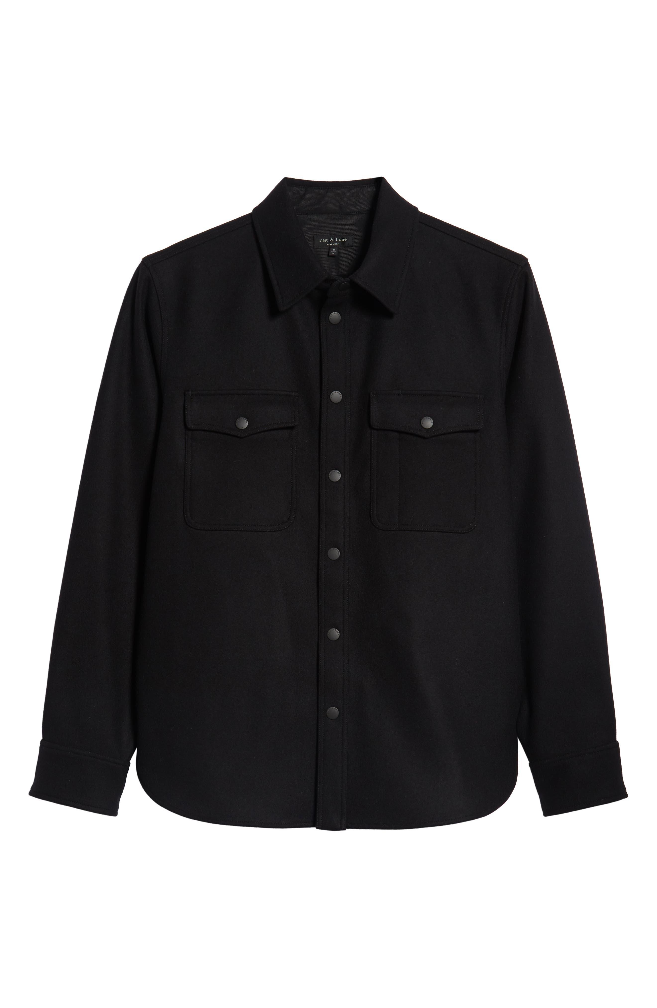 Jack Regular Fit Shirt Jacket,                             Alternate thumbnail 6, color,                             001