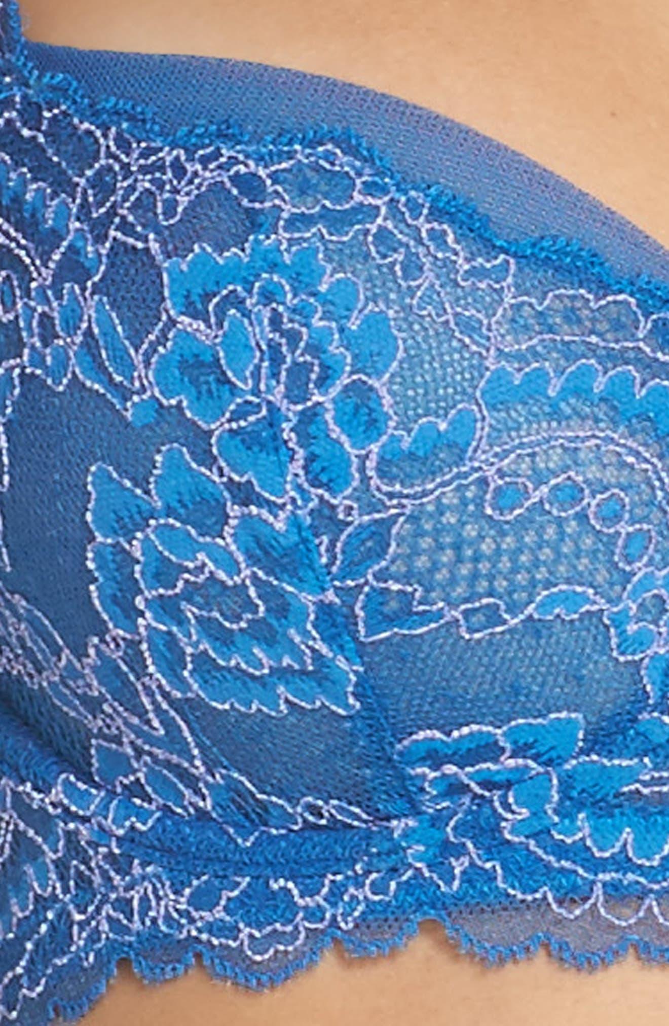 'Minx' Unlined Lace Demi Underwire Bra,                             Alternate thumbnail 70, color,