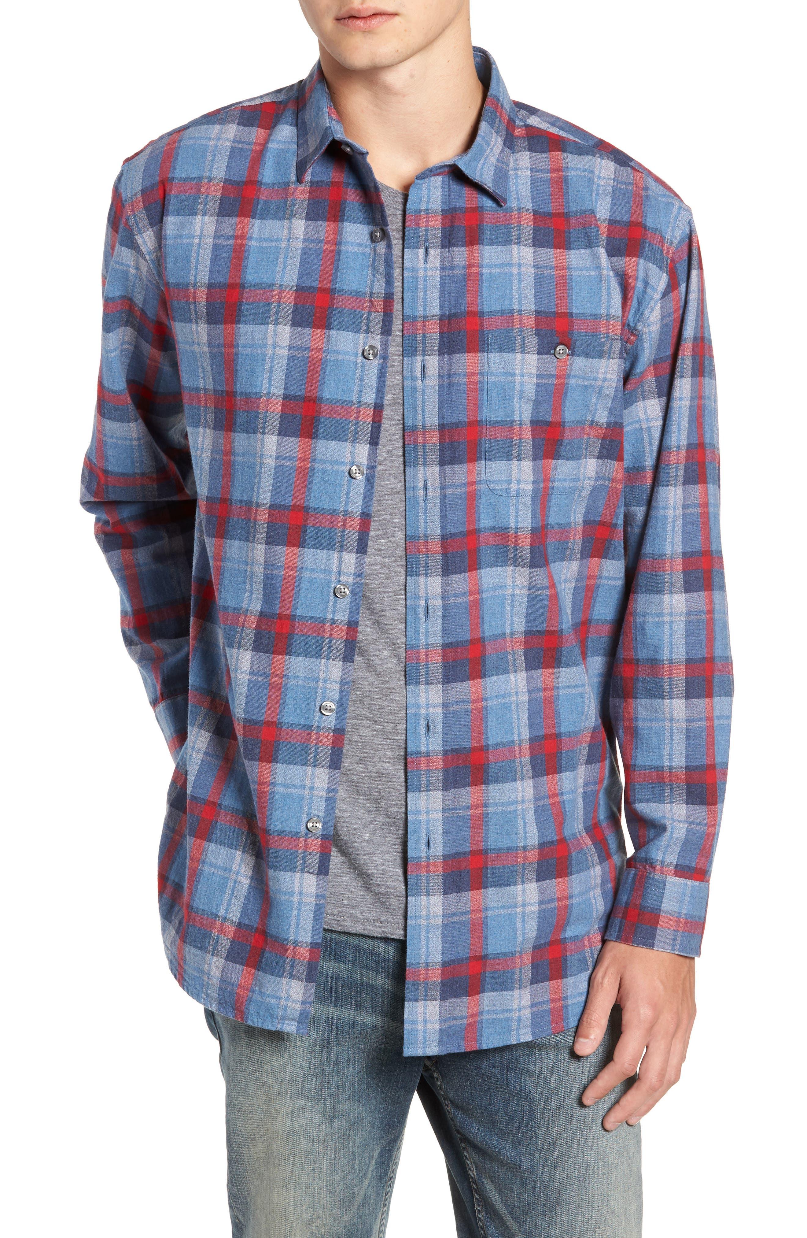 Jasper Plaid Flannel Shirt,                             Main thumbnail 1, color,                             410