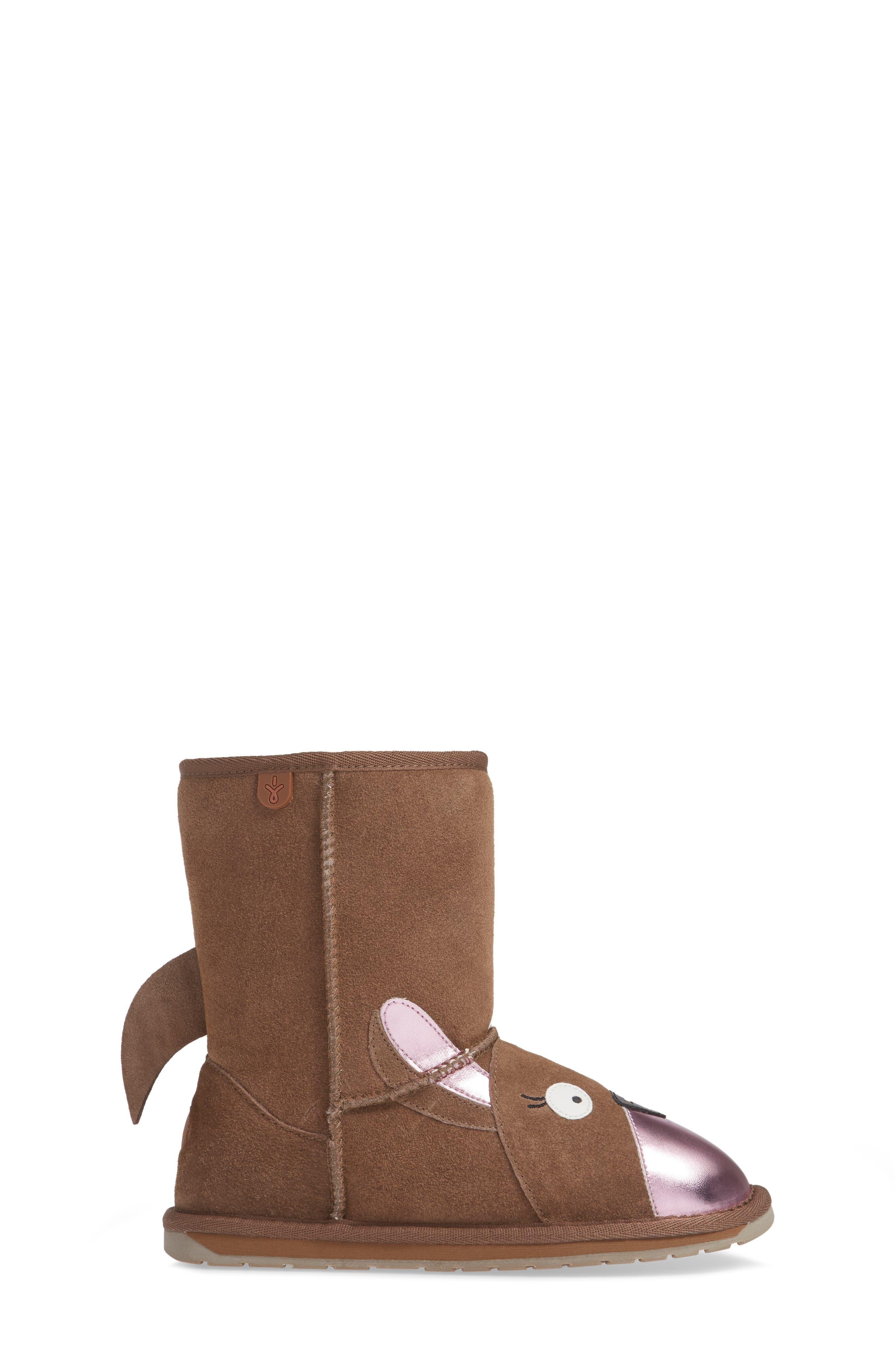Kanga Wool Lined Boot,                             Alternate thumbnail 3, color,                             OAK