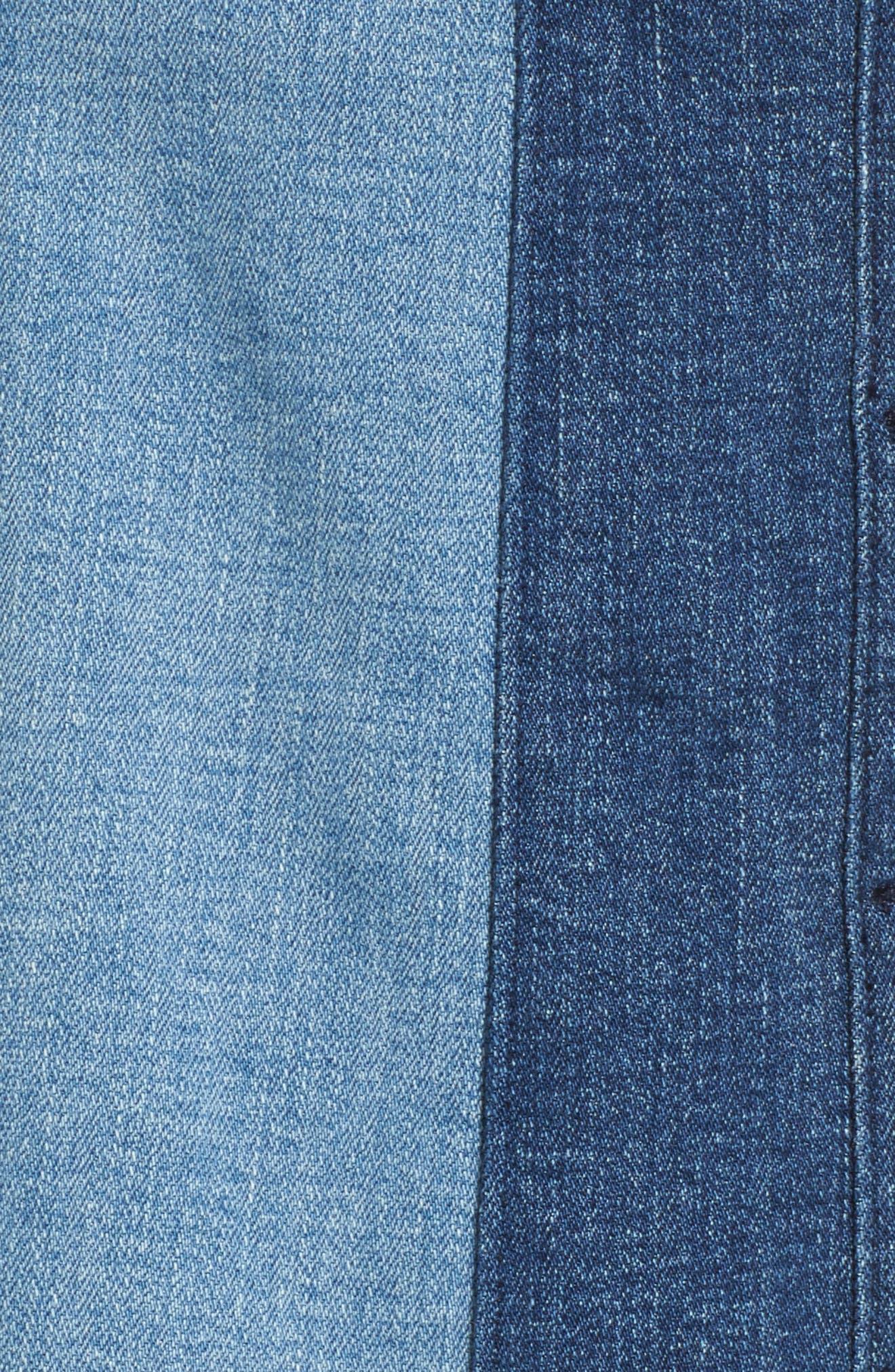 Beatty Denim Miniskirt,                             Alternate thumbnail 5, color,                             408