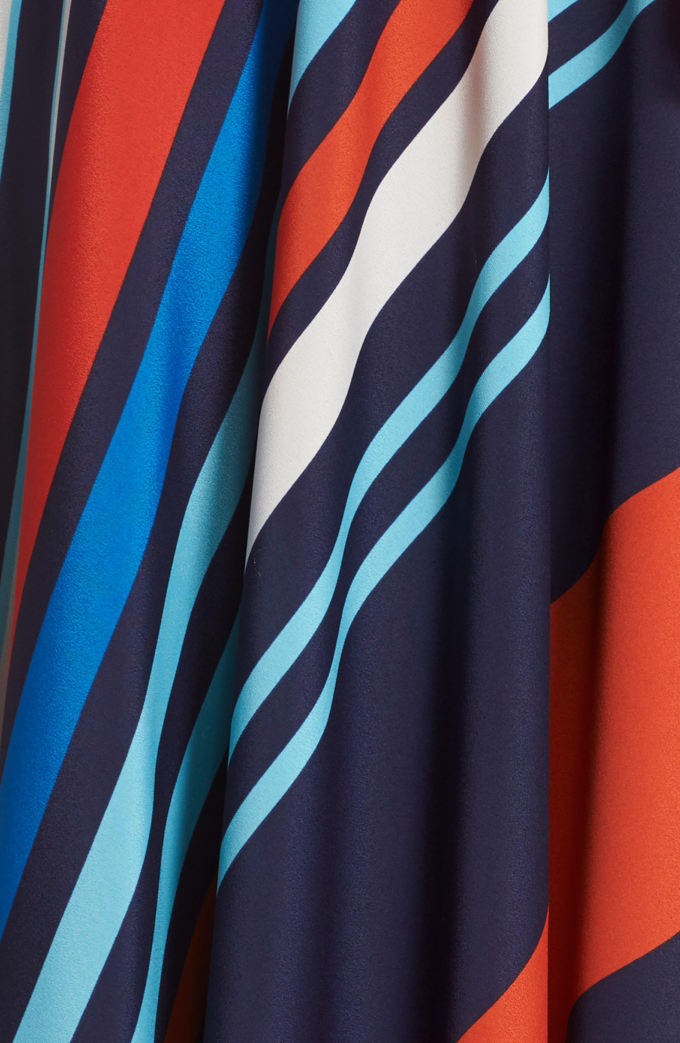 Jersey & Stripe Maxi Dress,                             Alternate thumbnail 6, color,