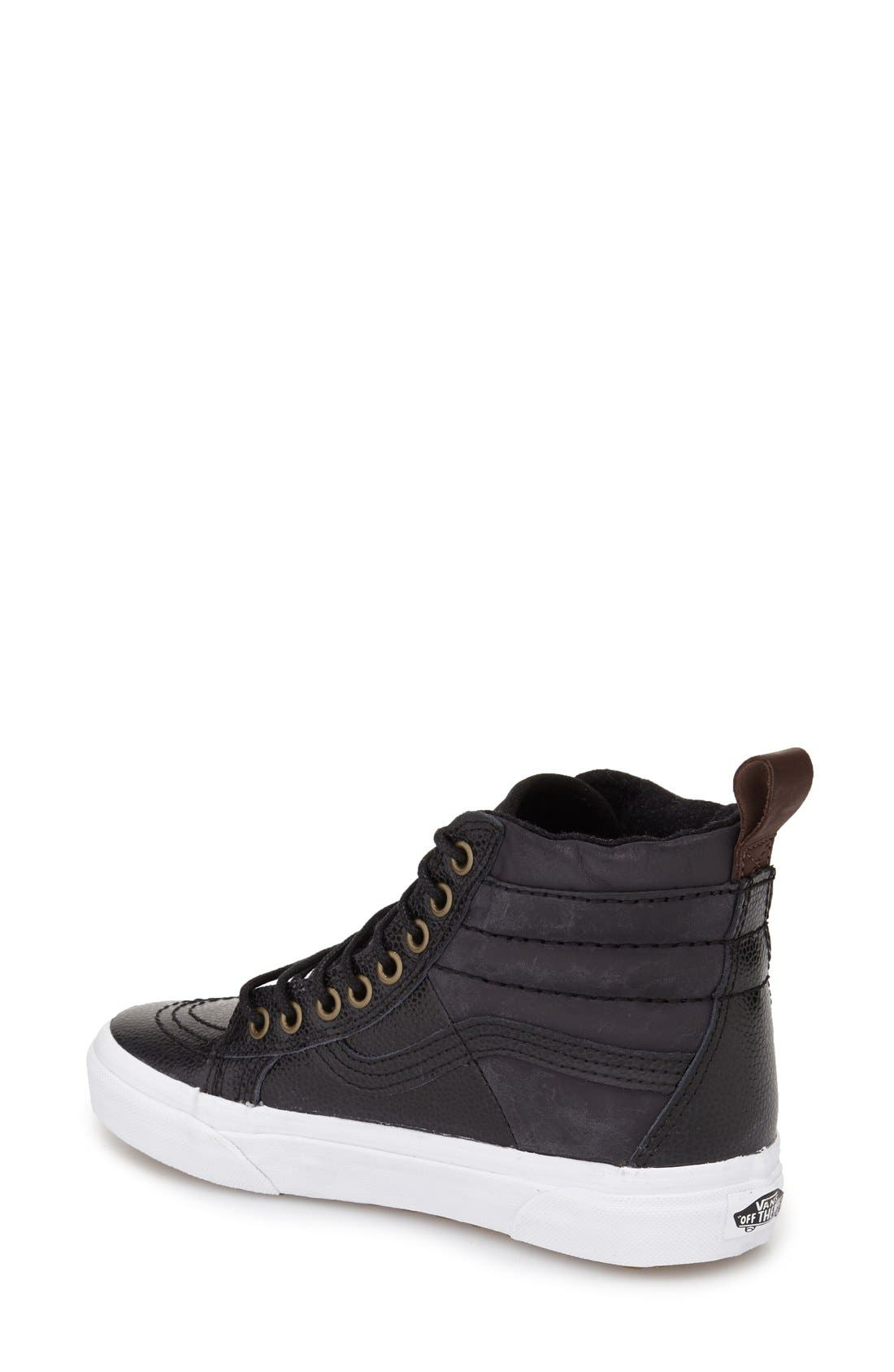 'Hana Beaman - Sk8-Hi 46 MTE' Water Resistant High Top Sneaker,                             Alternate thumbnail 2, color,                             001