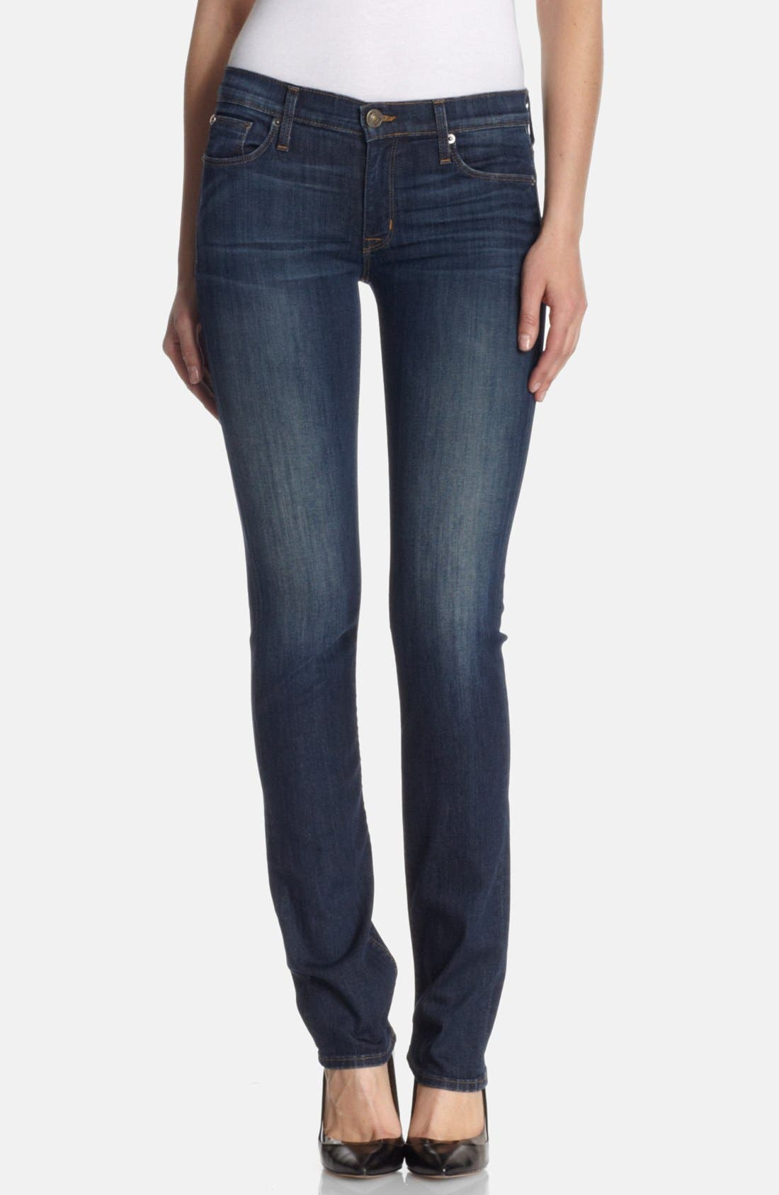 HUDSON JEANS 'Tilda' Mid Rise Straight Jeans, Main, color, 400
