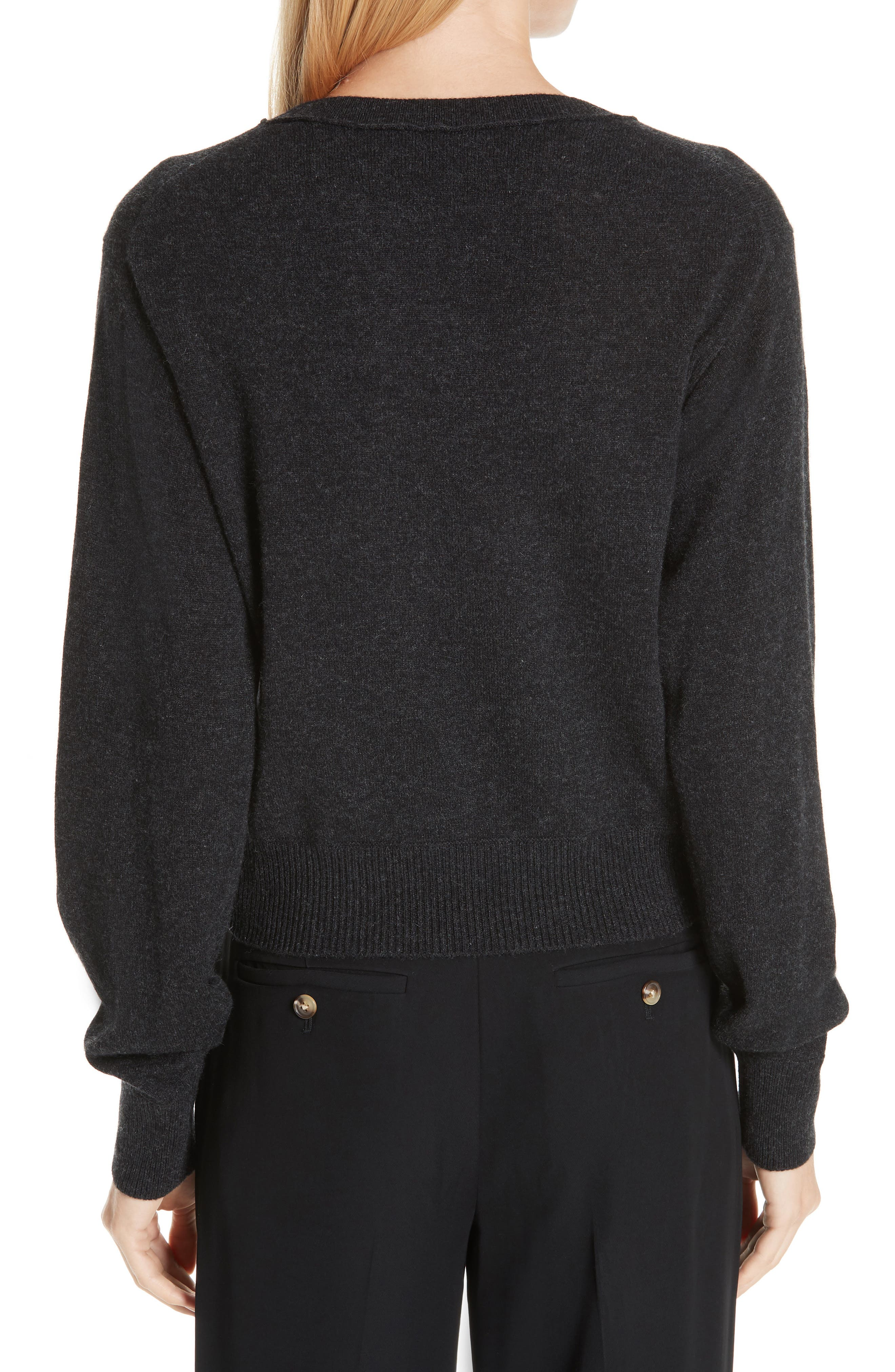 Wool & Cashmere Sweater,                             Alternate thumbnail 2, color,                             CHARCOAL