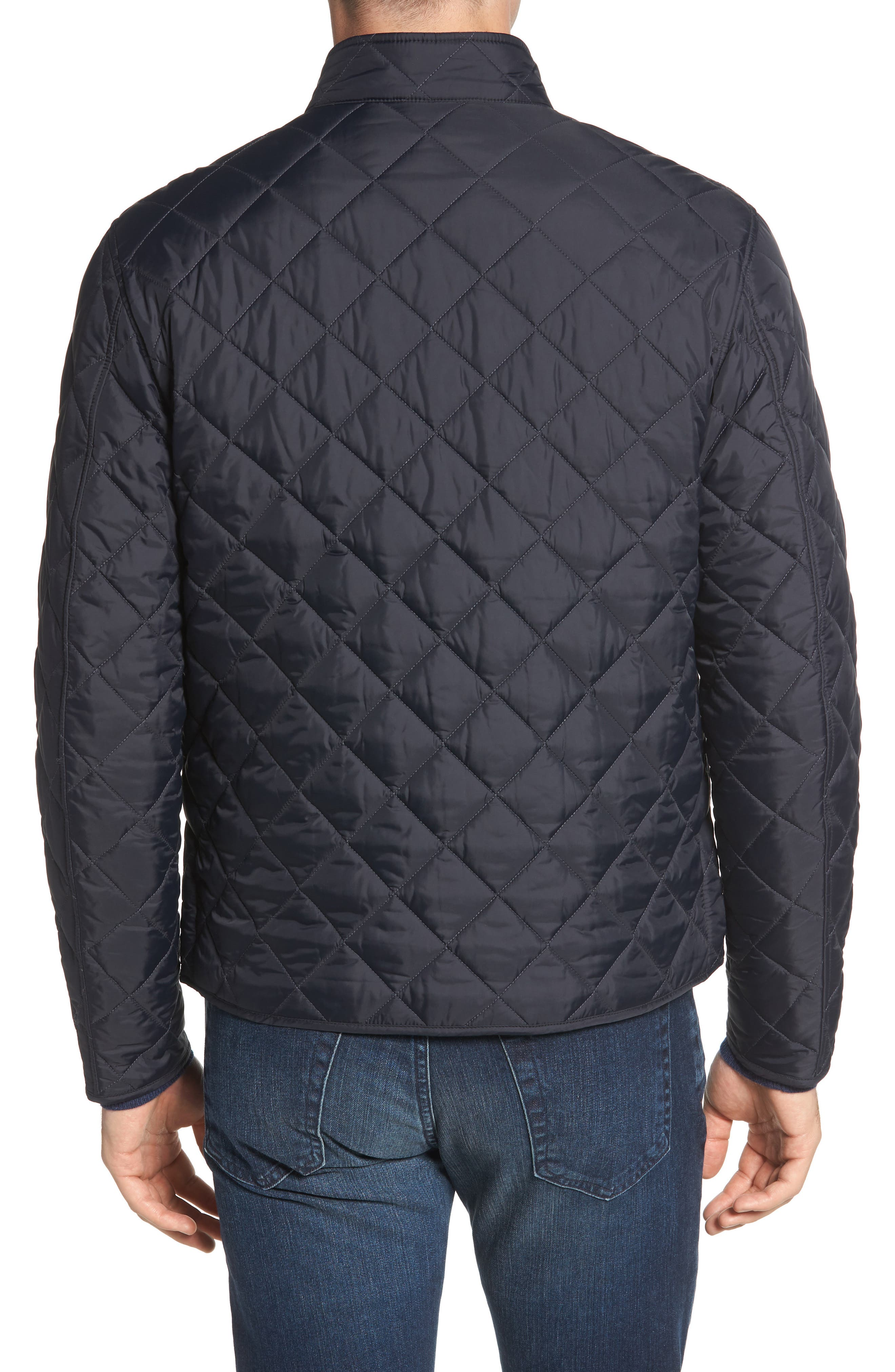 Pod Slim Fit Quilted Jacket,                             Alternate thumbnail 2, color,                             NAVY/ BLUE