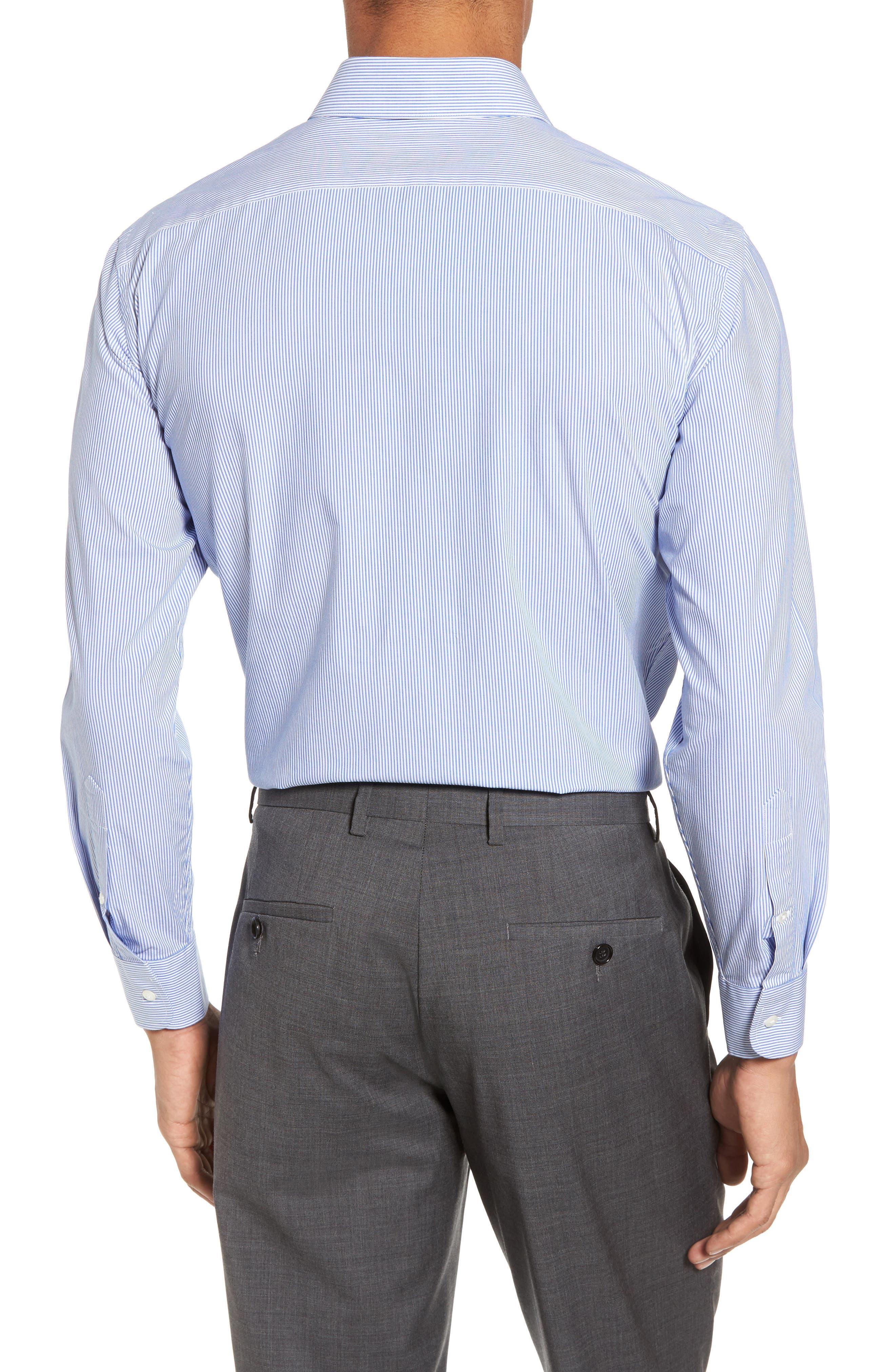 Tech-Smart Trim Fit Stretch Stripe Dress Shirt,                             Alternate thumbnail 2, color,                             420