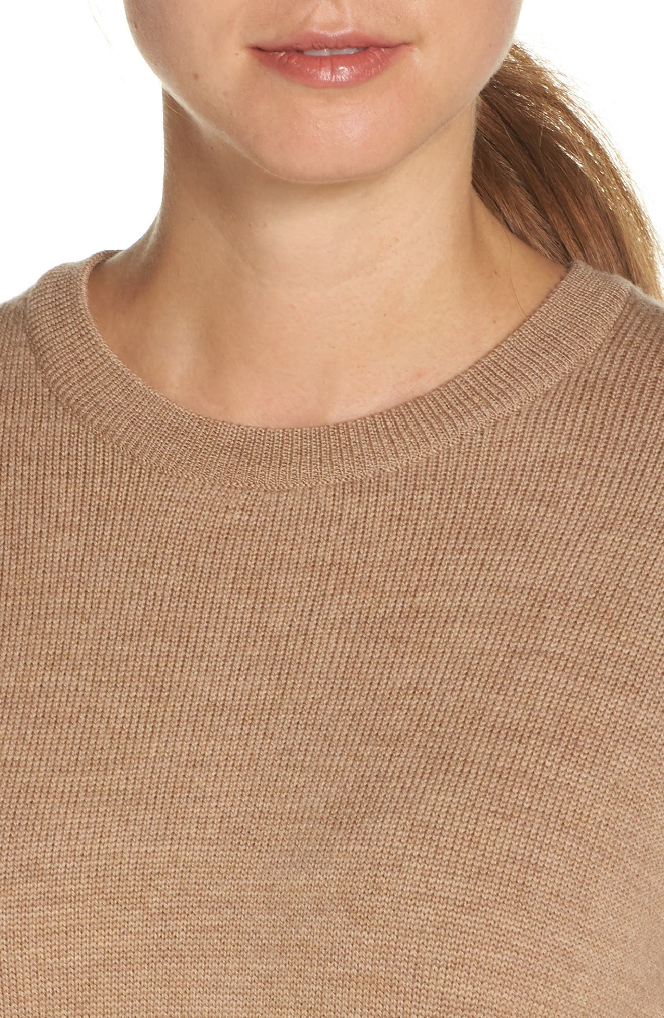 Muster Merino Wool Sweater,                             Alternate thumbnail 4, color,                             CAMEL HEATHER