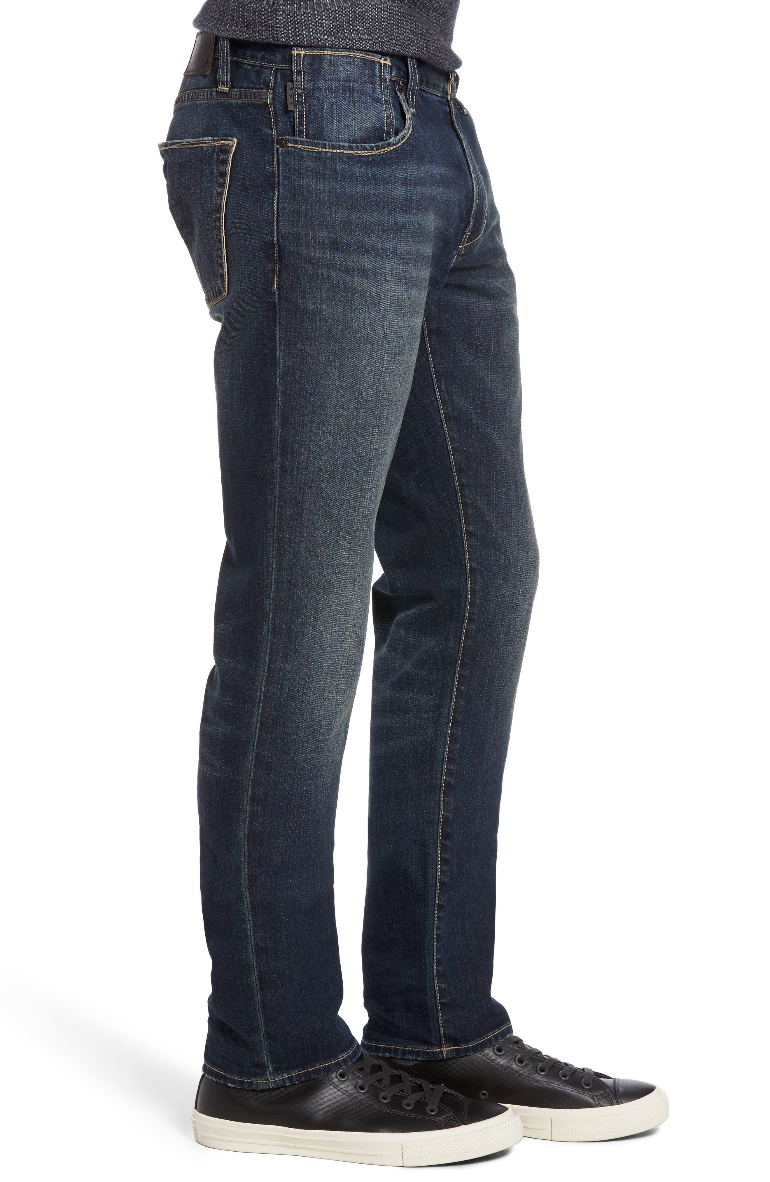 Bowery Slim Straight Leg Jeans,                             Alternate thumbnail 7, color,
