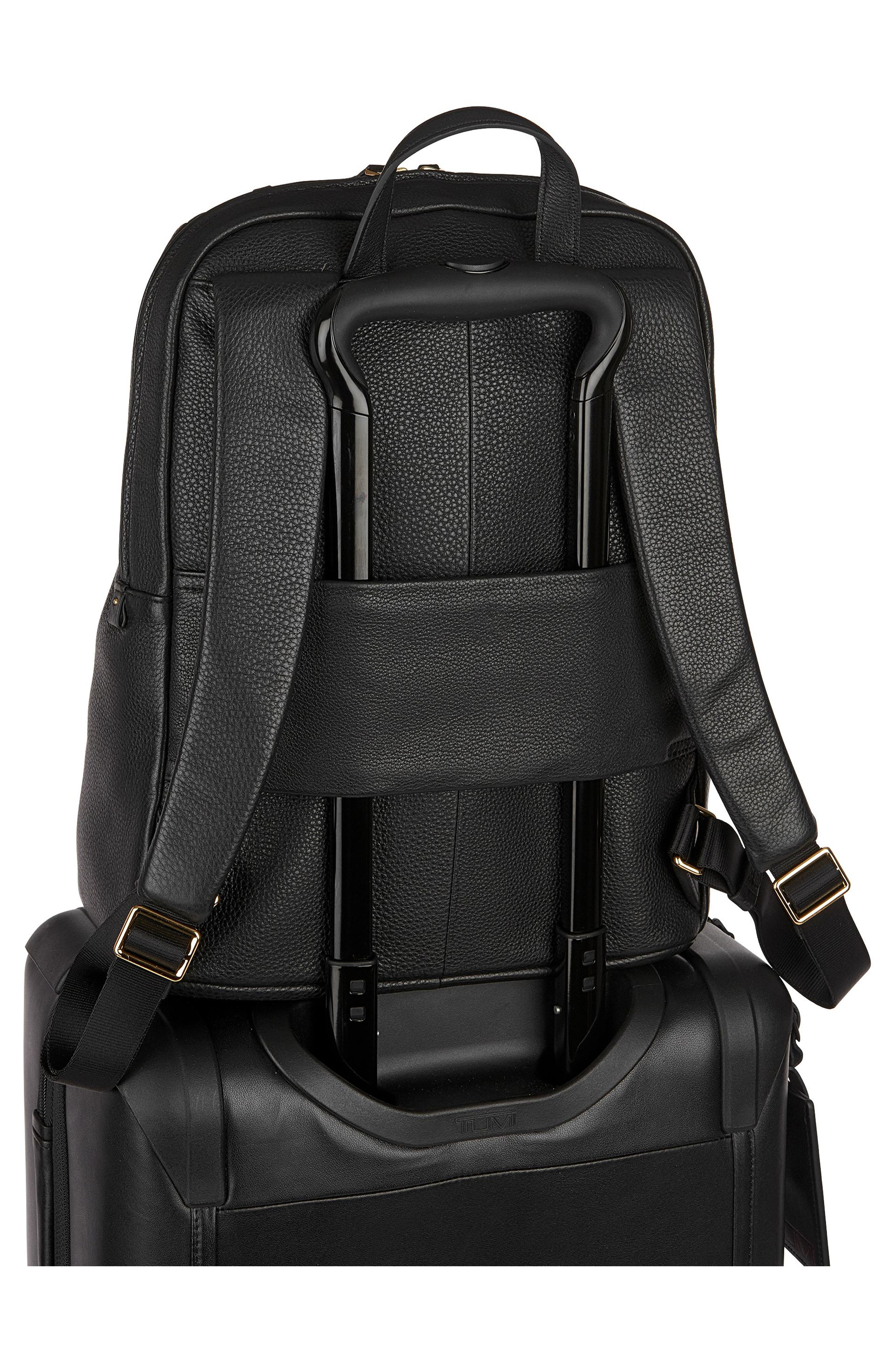 Voyageur Halle Leather Backpack,                             Alternate thumbnail 11, color,