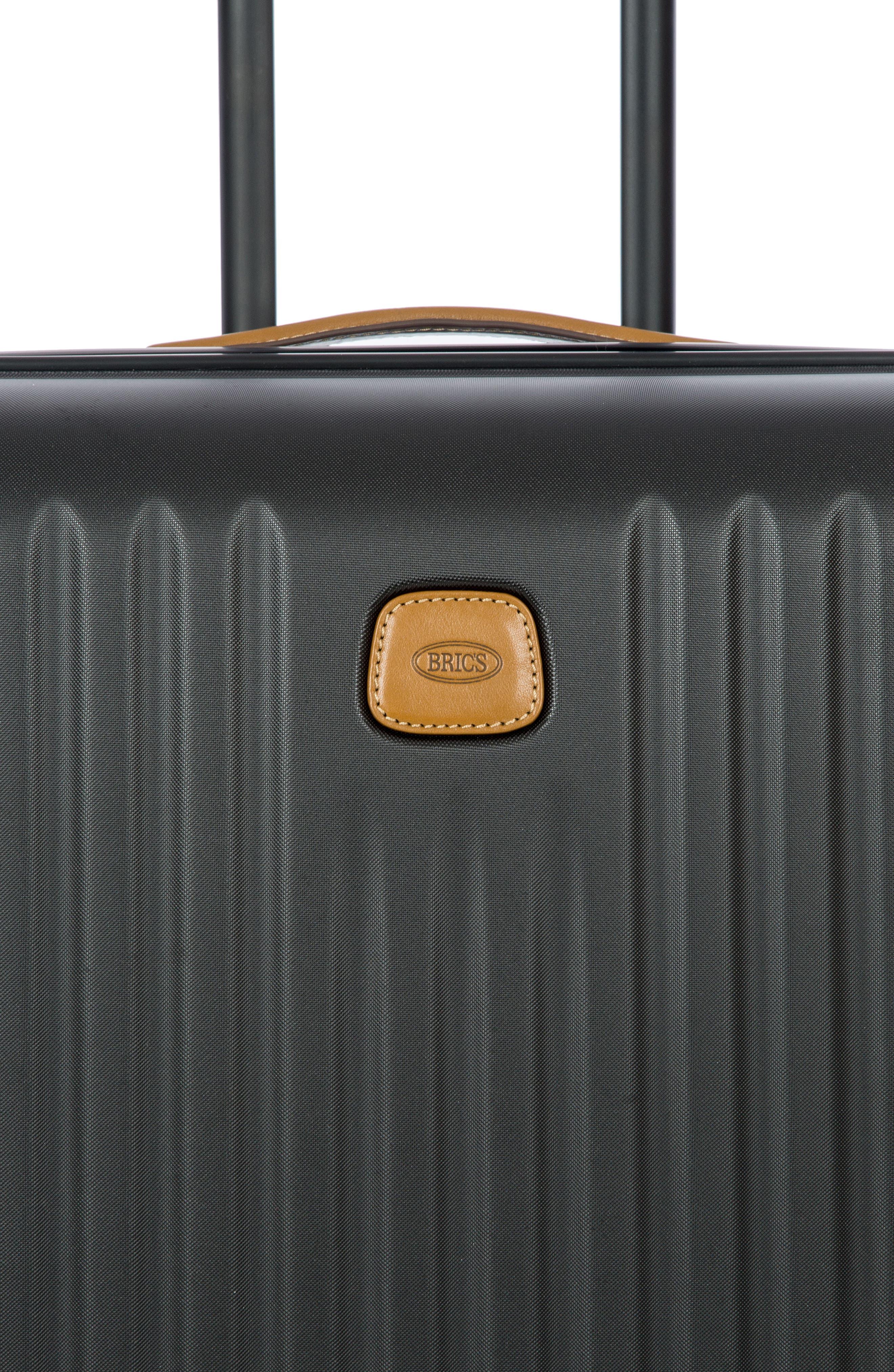 Capri 27-Inch Rolling Suitcase,                             Alternate thumbnail 7, color,                             MATTE BLACK