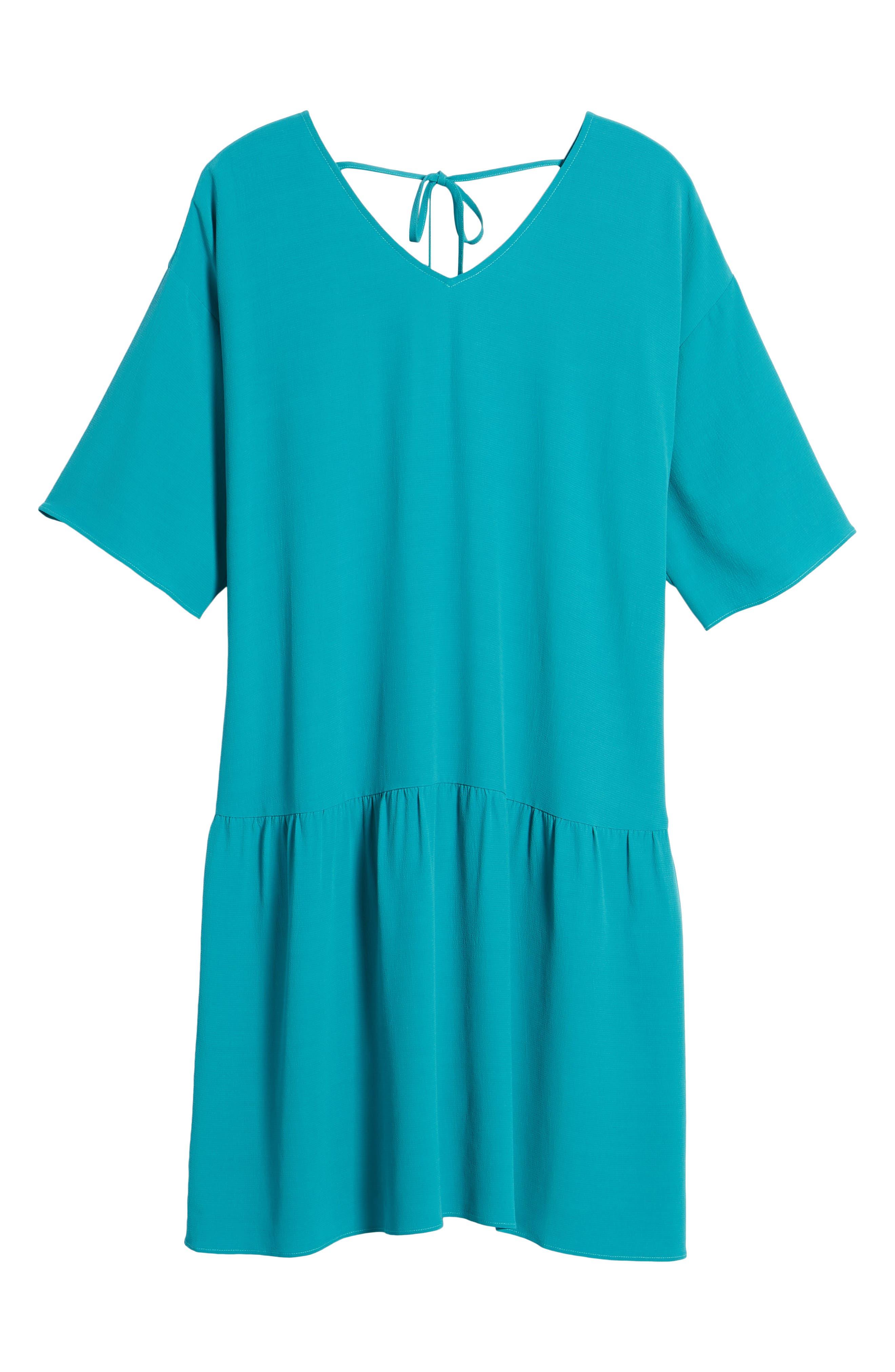 Drop Waist Tencel<sup>®</sup> Lyocell Blend Dress,                             Alternate thumbnail 24, color,