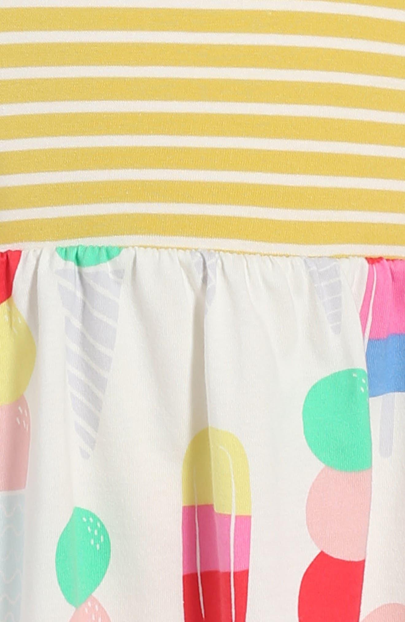 Mixed Print Dress,                             Alternate thumbnail 3, color,                             706