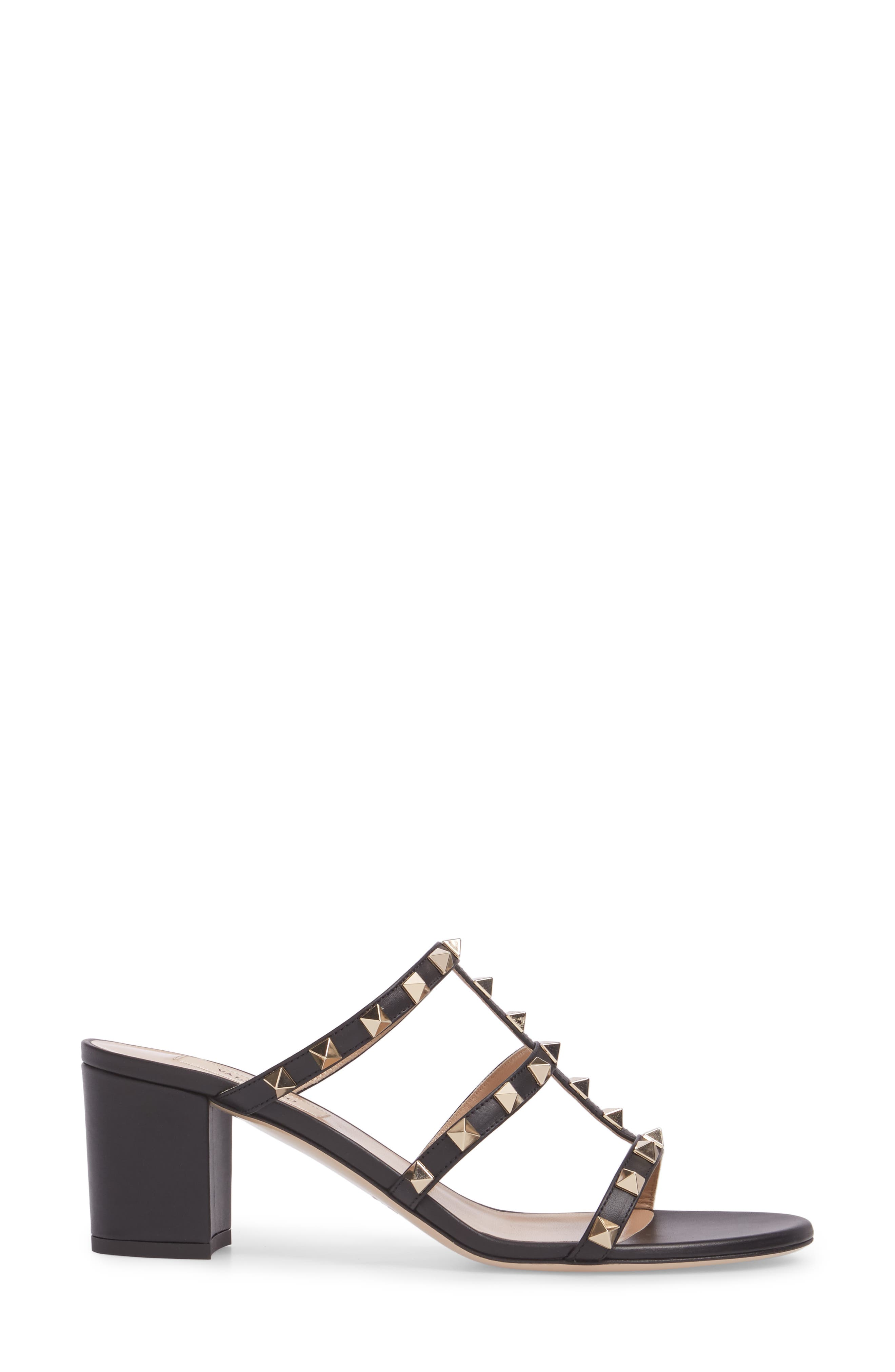 Rockstud Slide Sandal,                             Alternate thumbnail 3, color,                             002