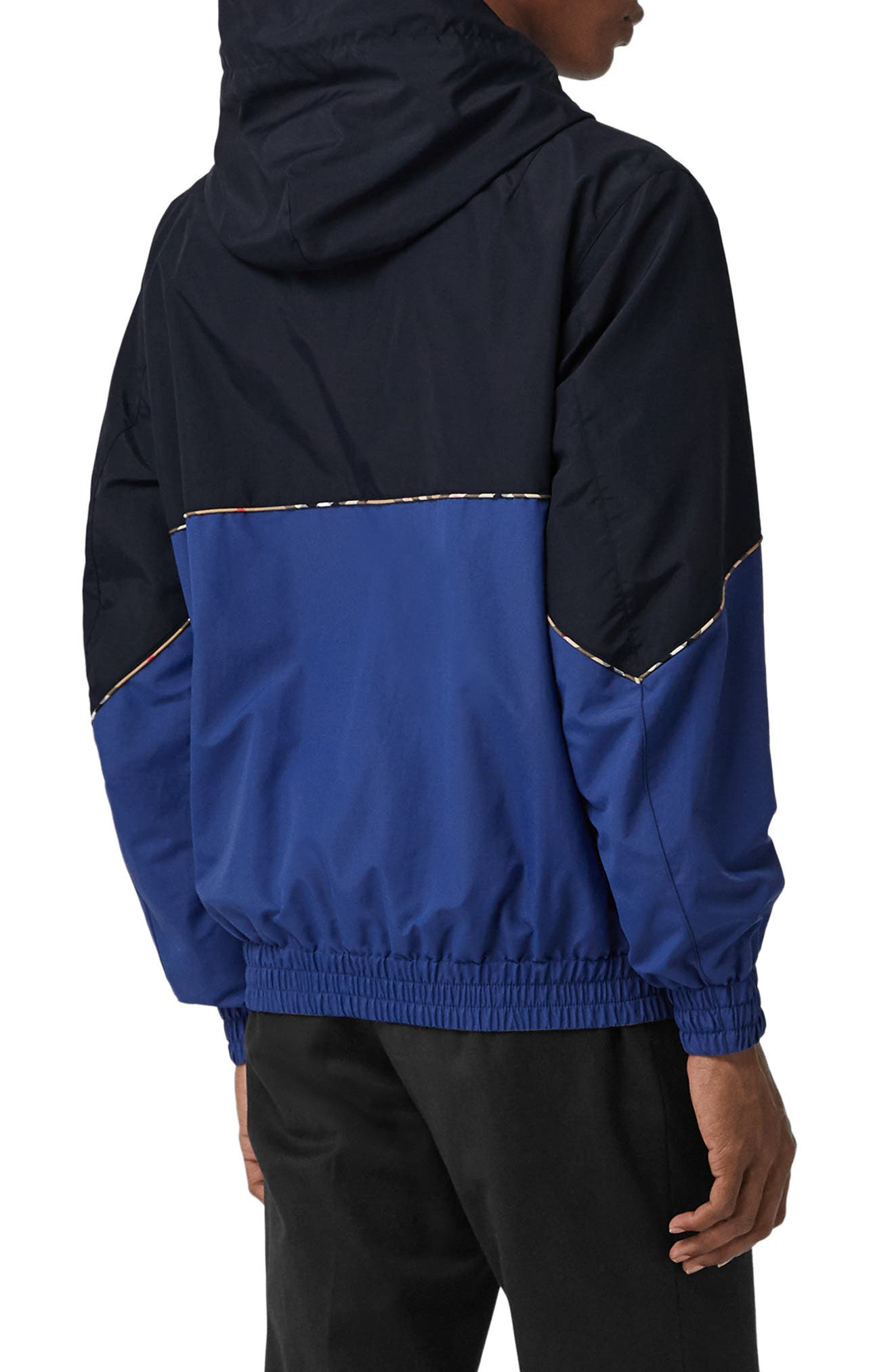 Elsworth Hooded Zip Jacket,                             Alternate thumbnail 3, color,                             NAVY