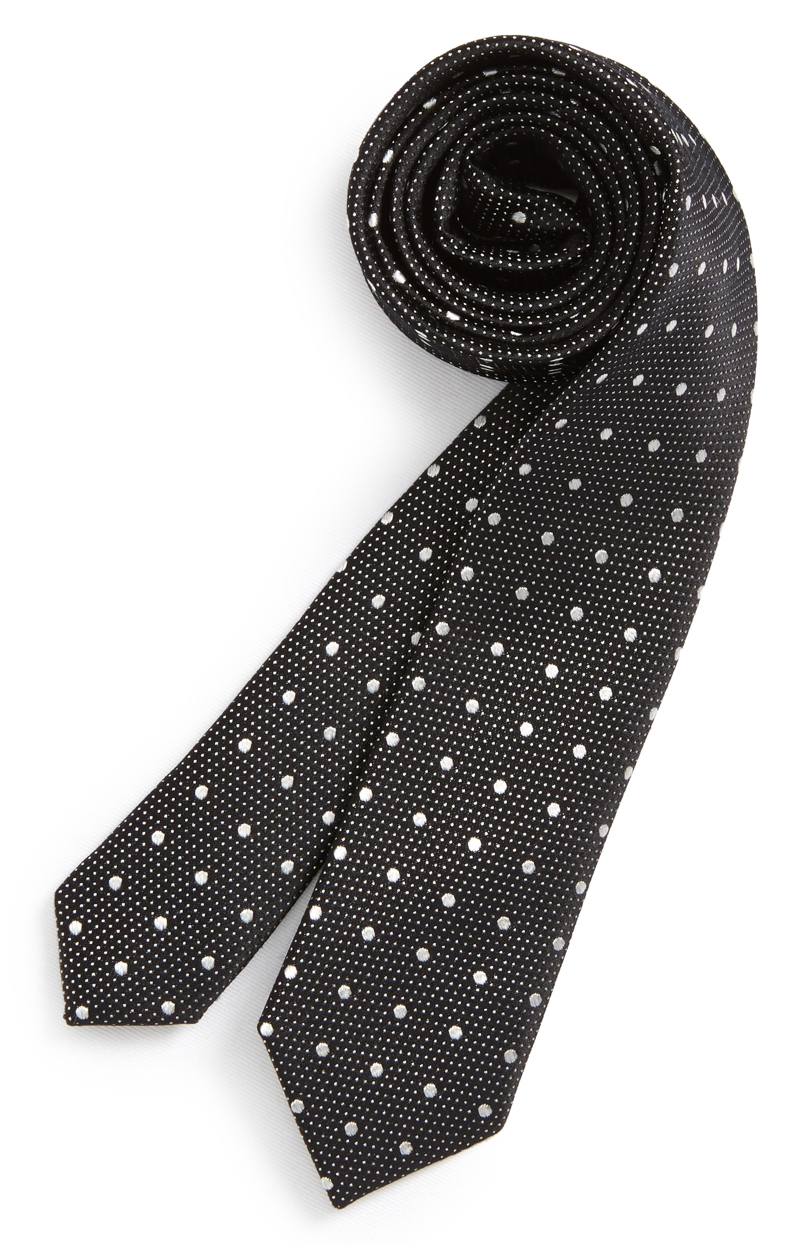 Piccolo Dot Silk Tie,                             Main thumbnail 1, color,