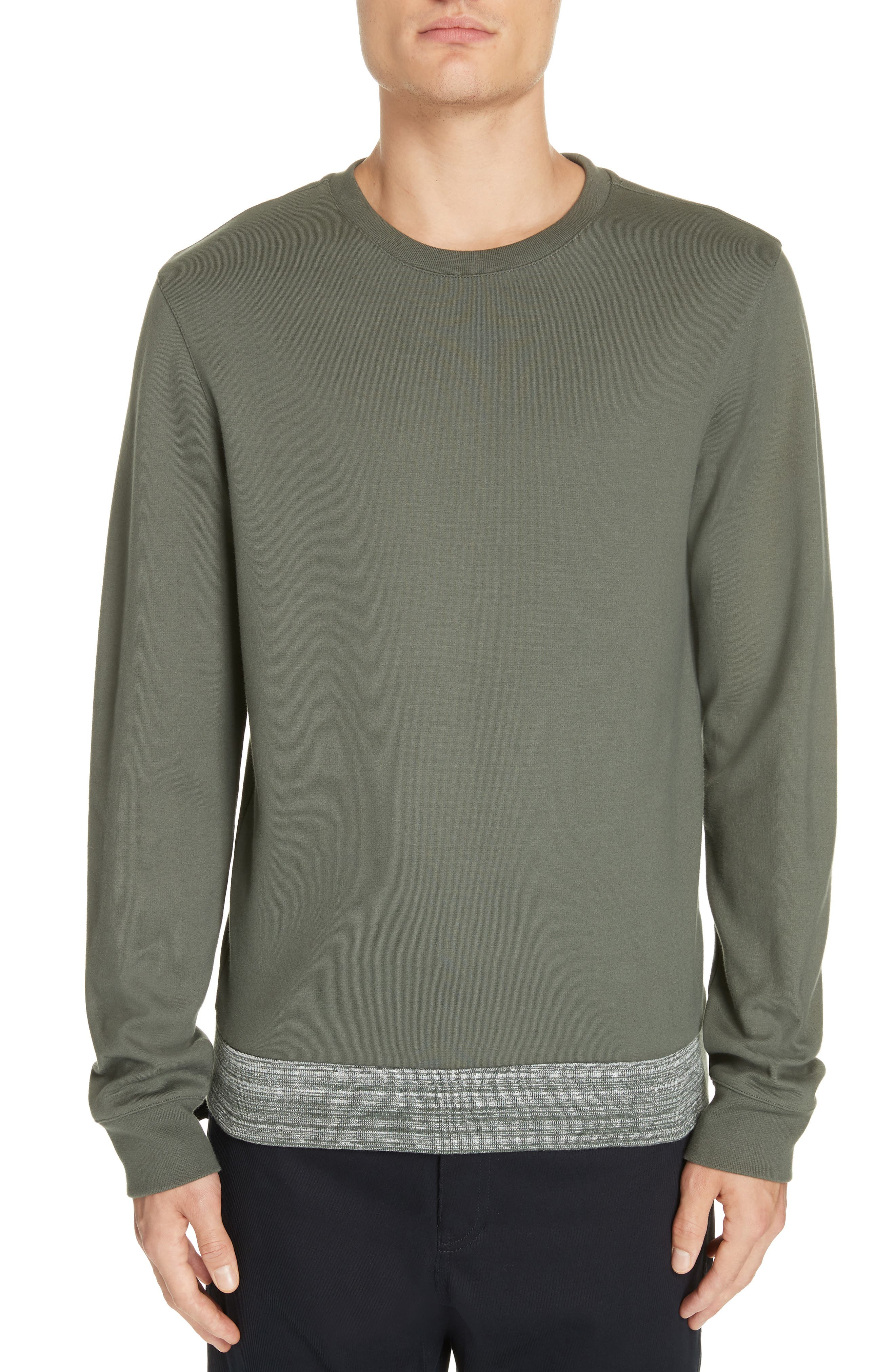 Jeremie Space Dye Sweatshirt, Main, color, KHAKI