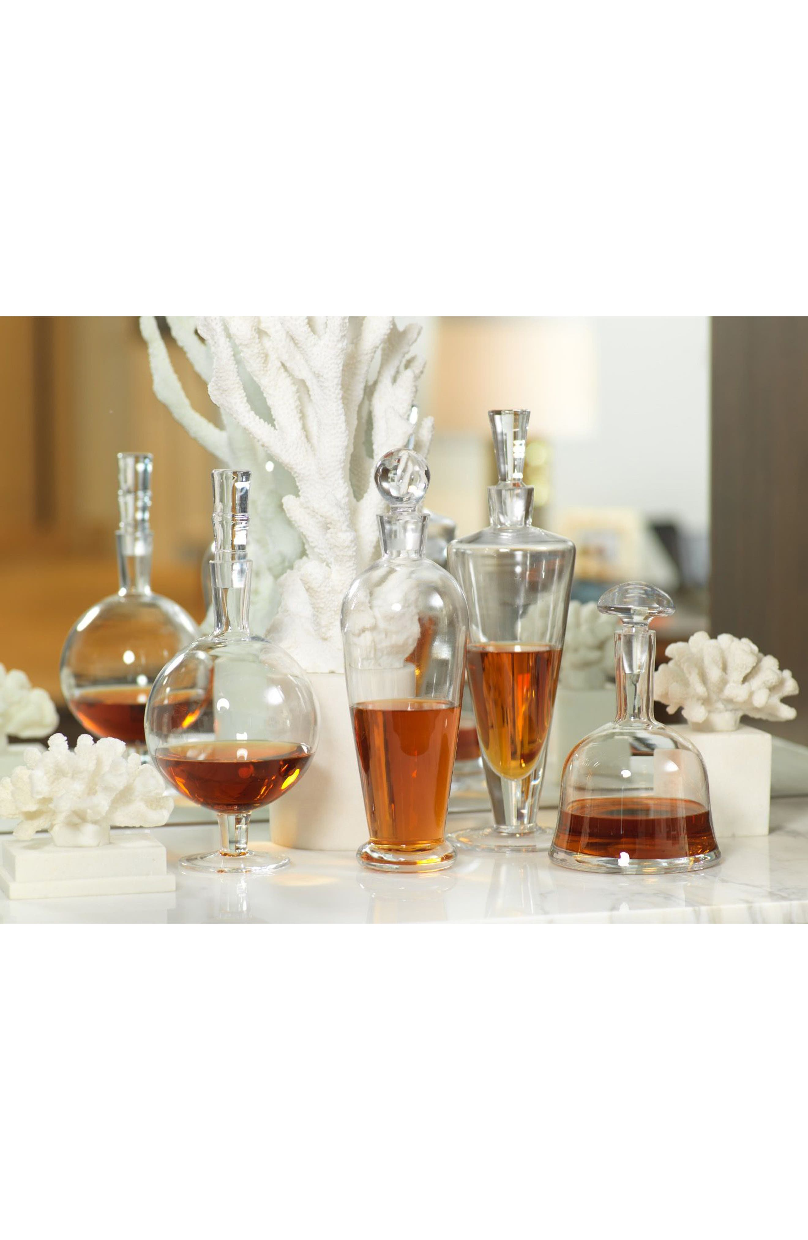 Salerno Glass Decanter,                             Alternate thumbnail 2, color,                             100