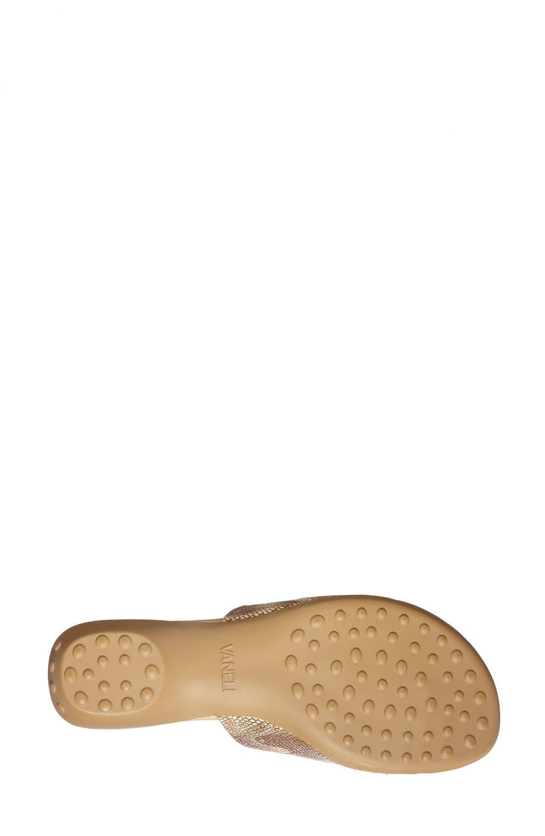 'Tallis' Snake Embossed Leather Slide Sandal,                             Alternate thumbnail 22, color,