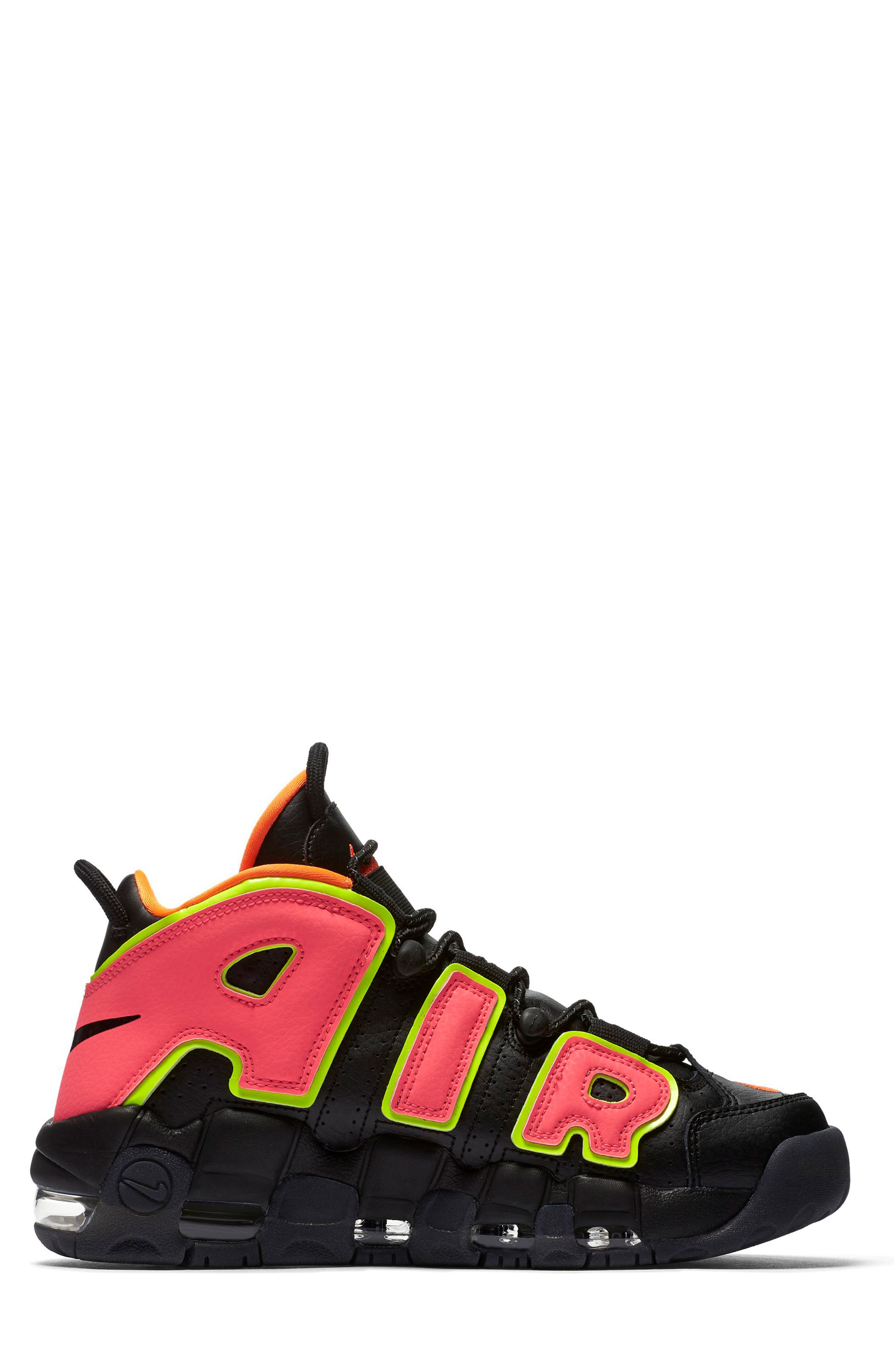 Air More Uptempo Sneaker,                             Alternate thumbnail 3, color,                             002
