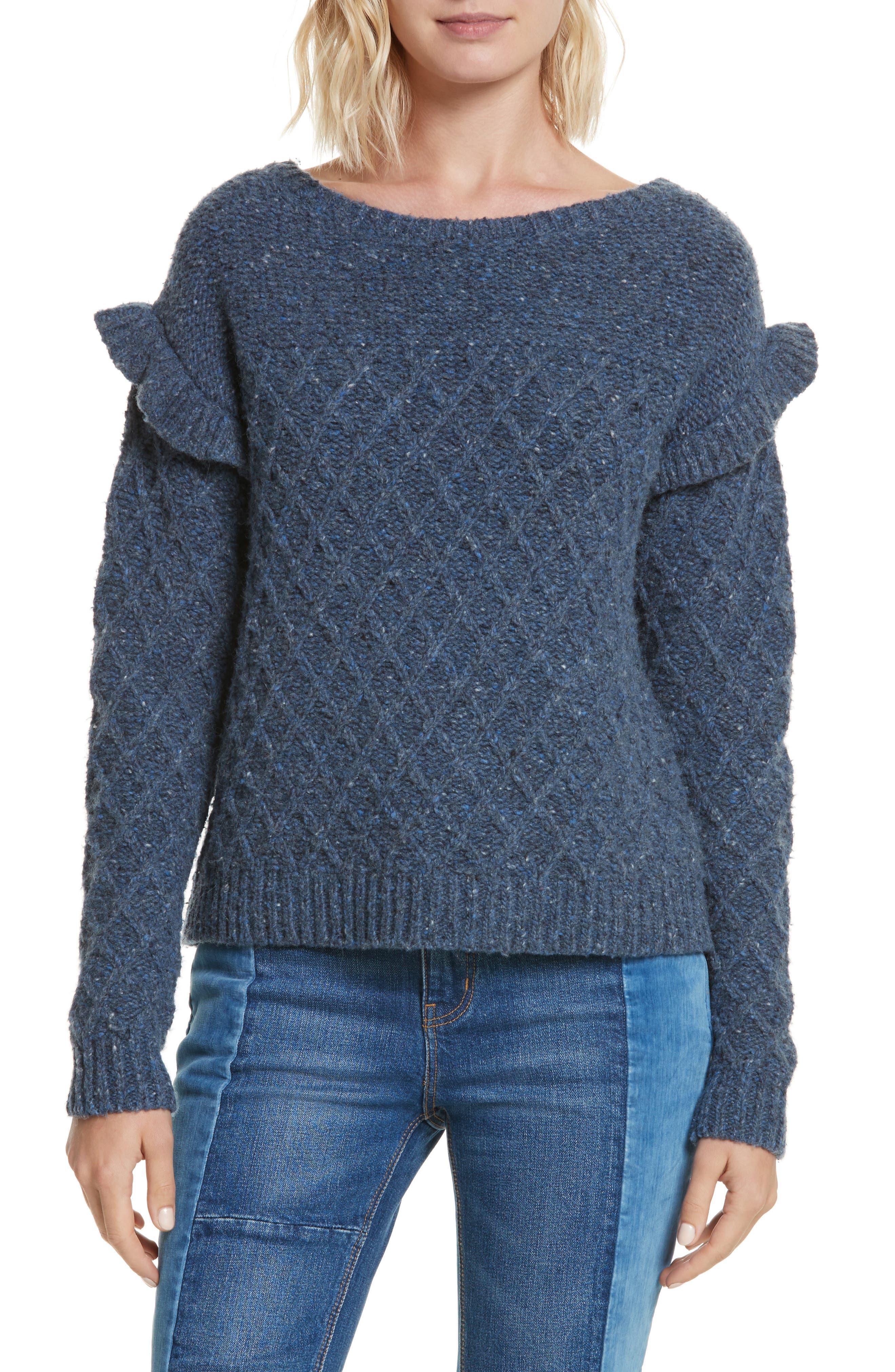 Lattice Stitch Pullover,                             Main thumbnail 1, color,                             454