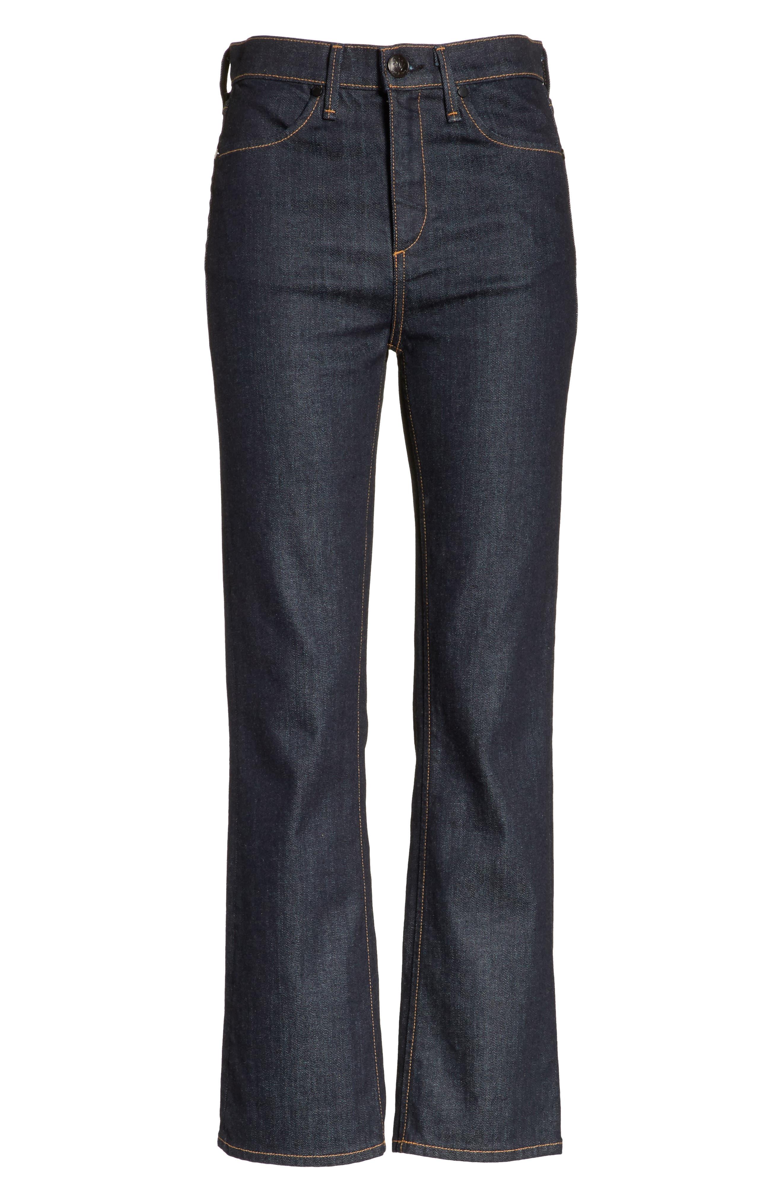 Dylan High Waist Kick Flare Jeans,                             Alternate thumbnail 6, color,                             470