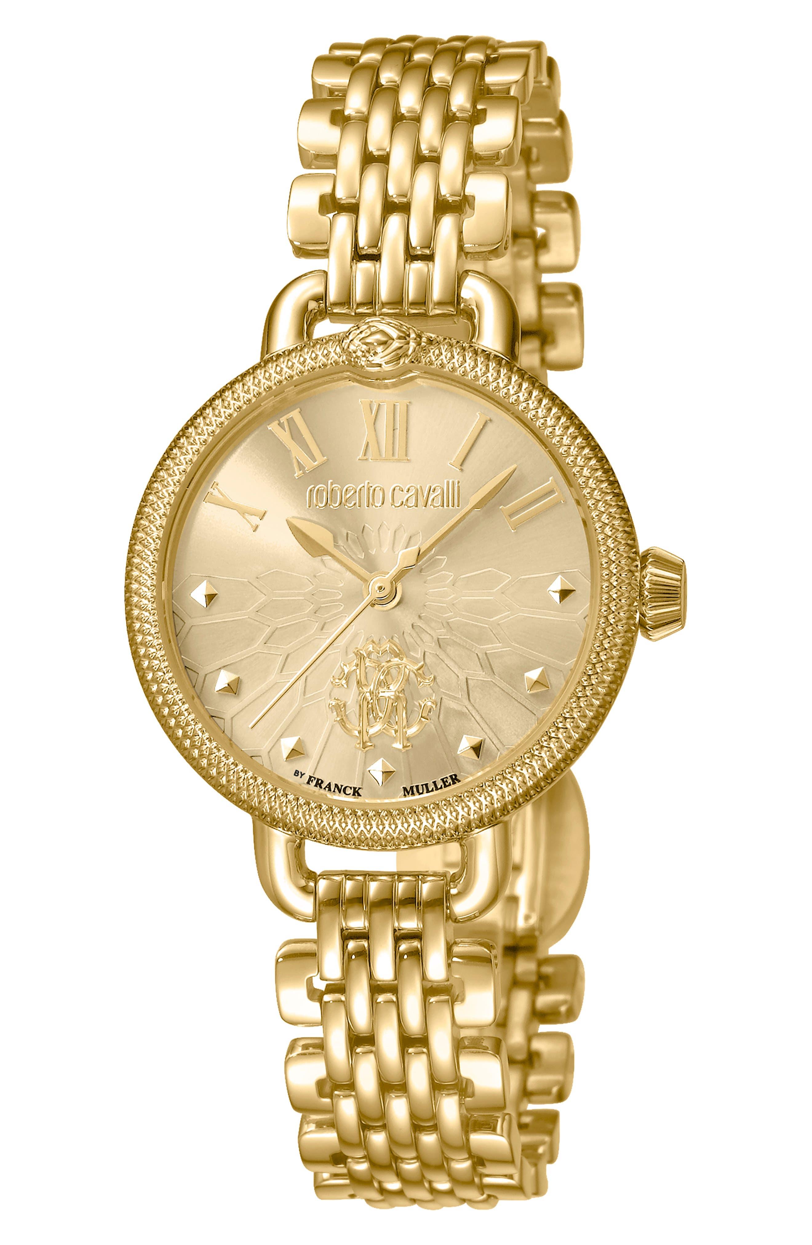 ROBERTO CAVALLI BY FRANCK MULLER Floreale Bracelet Watch, 30Mm in Gold
