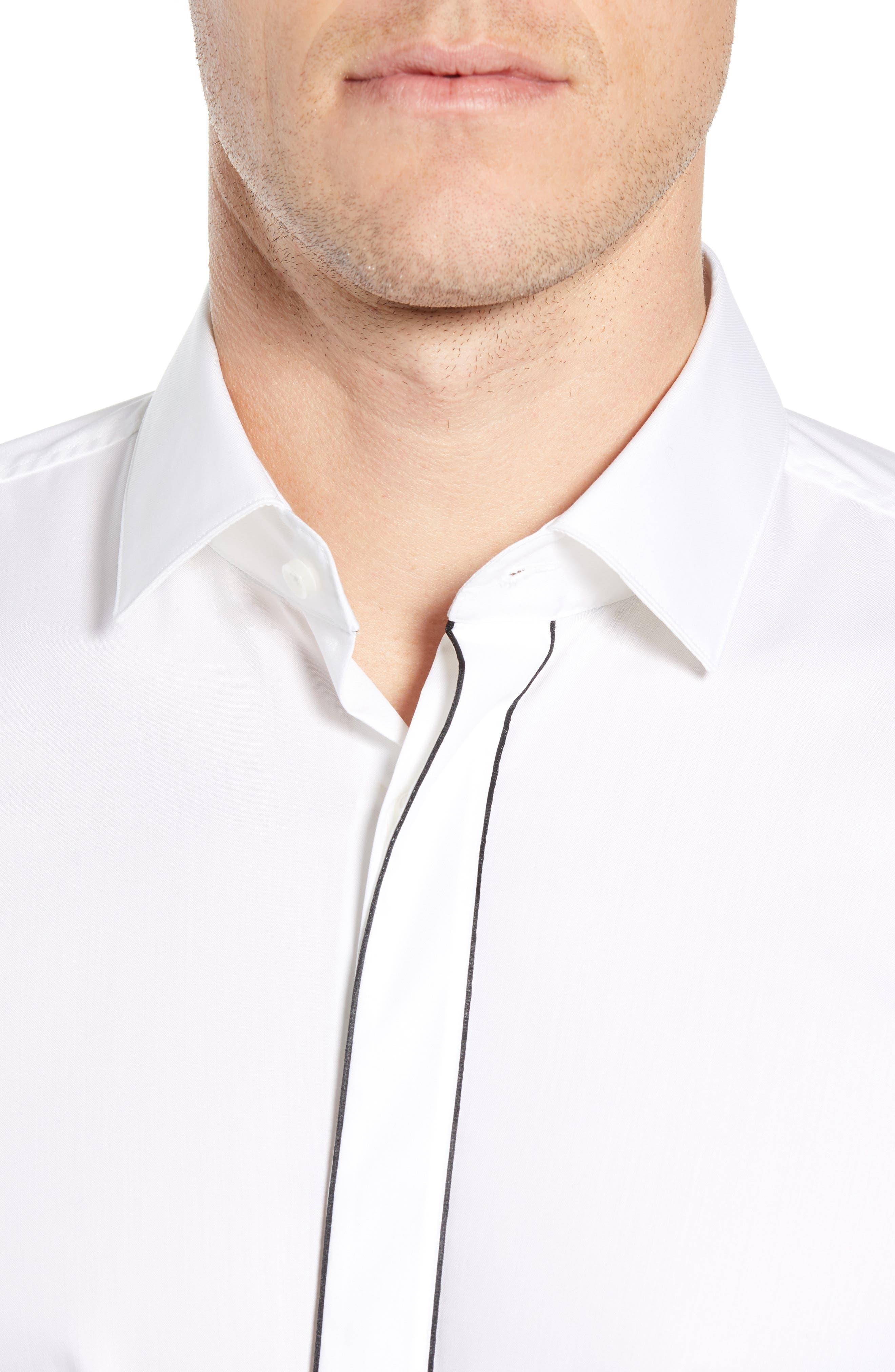 Jamir Slim Fit Easy Iron Solid Dress Shirt,                             Alternate thumbnail 2, color,                             100