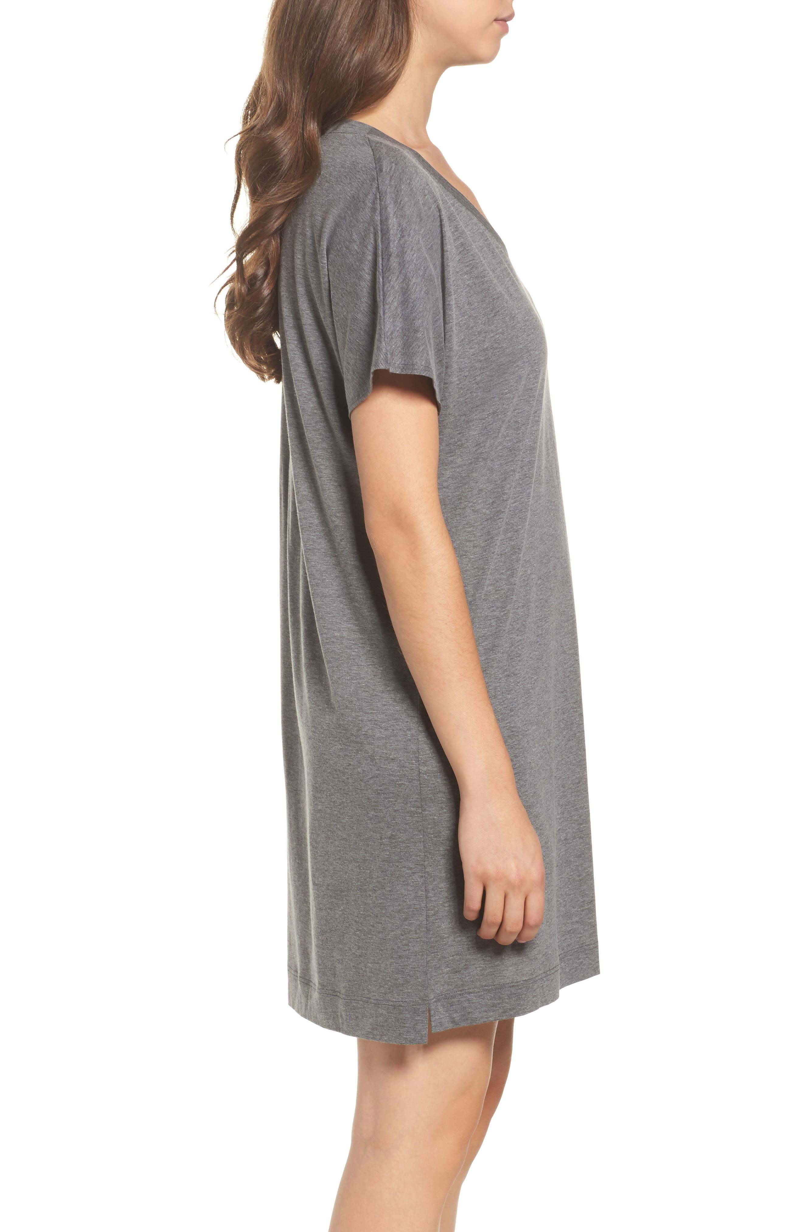 Laura Jersey Sleep Shirt,                             Alternate thumbnail 3, color,                             020