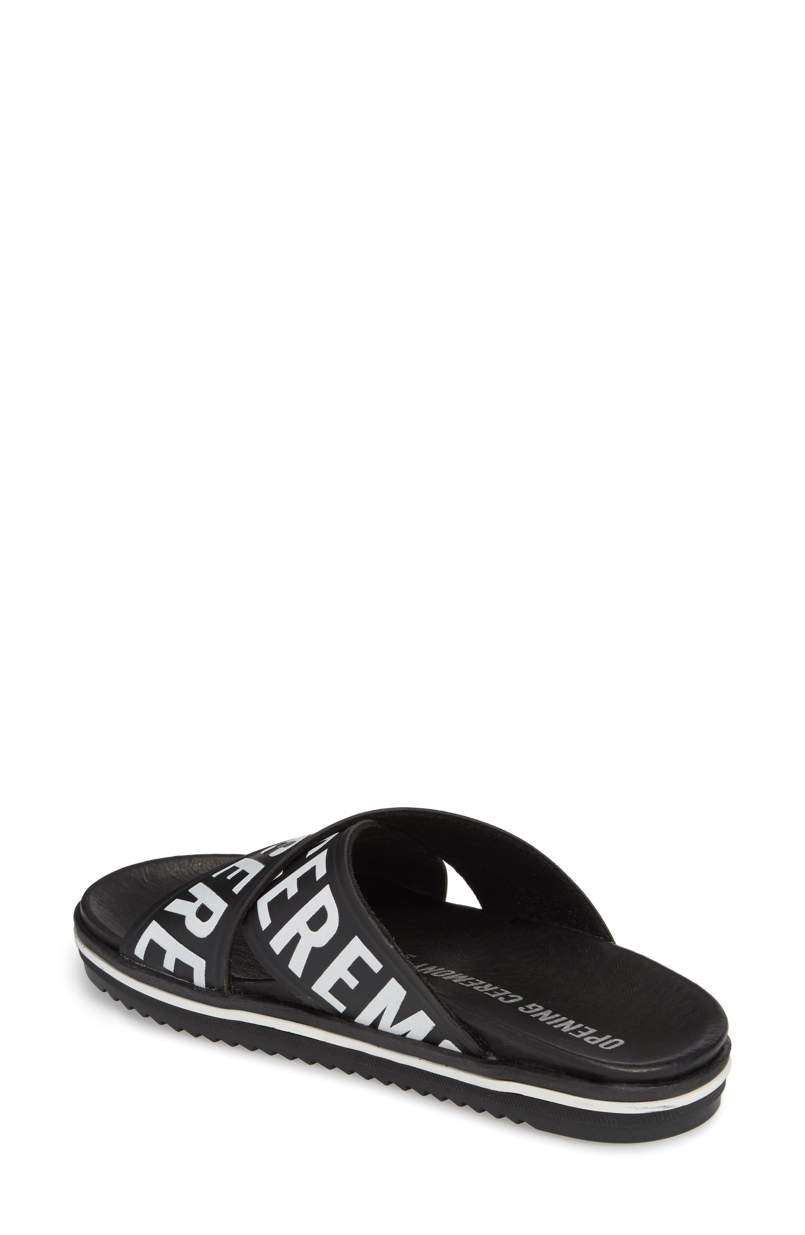 Berkeley Slide Sandal,                             Alternate thumbnail 2, color,                             BLACK MULTI