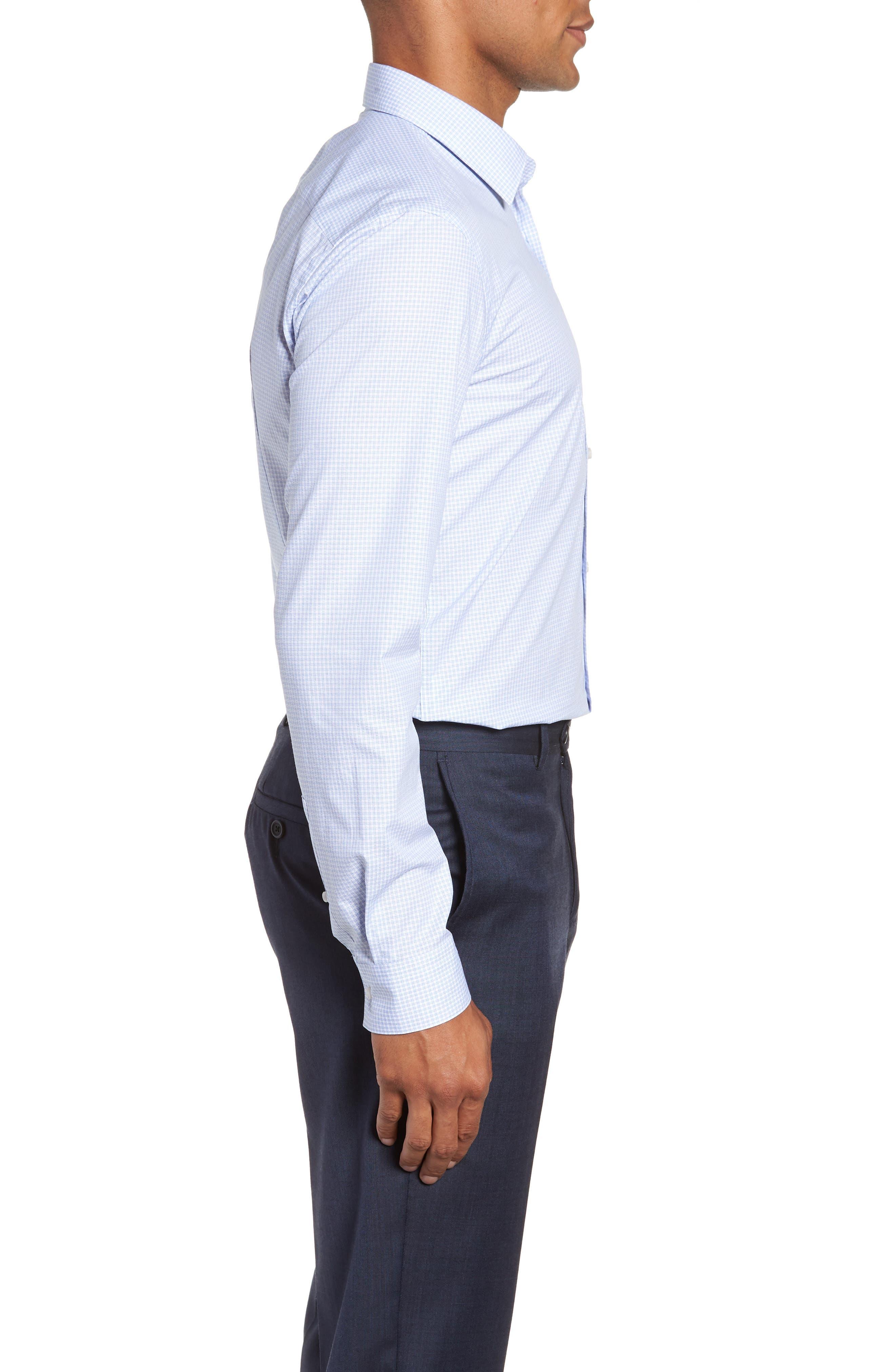 Isko Slim Fit Stretch Check Dress Shirt,                             Alternate thumbnail 4, color,                             450