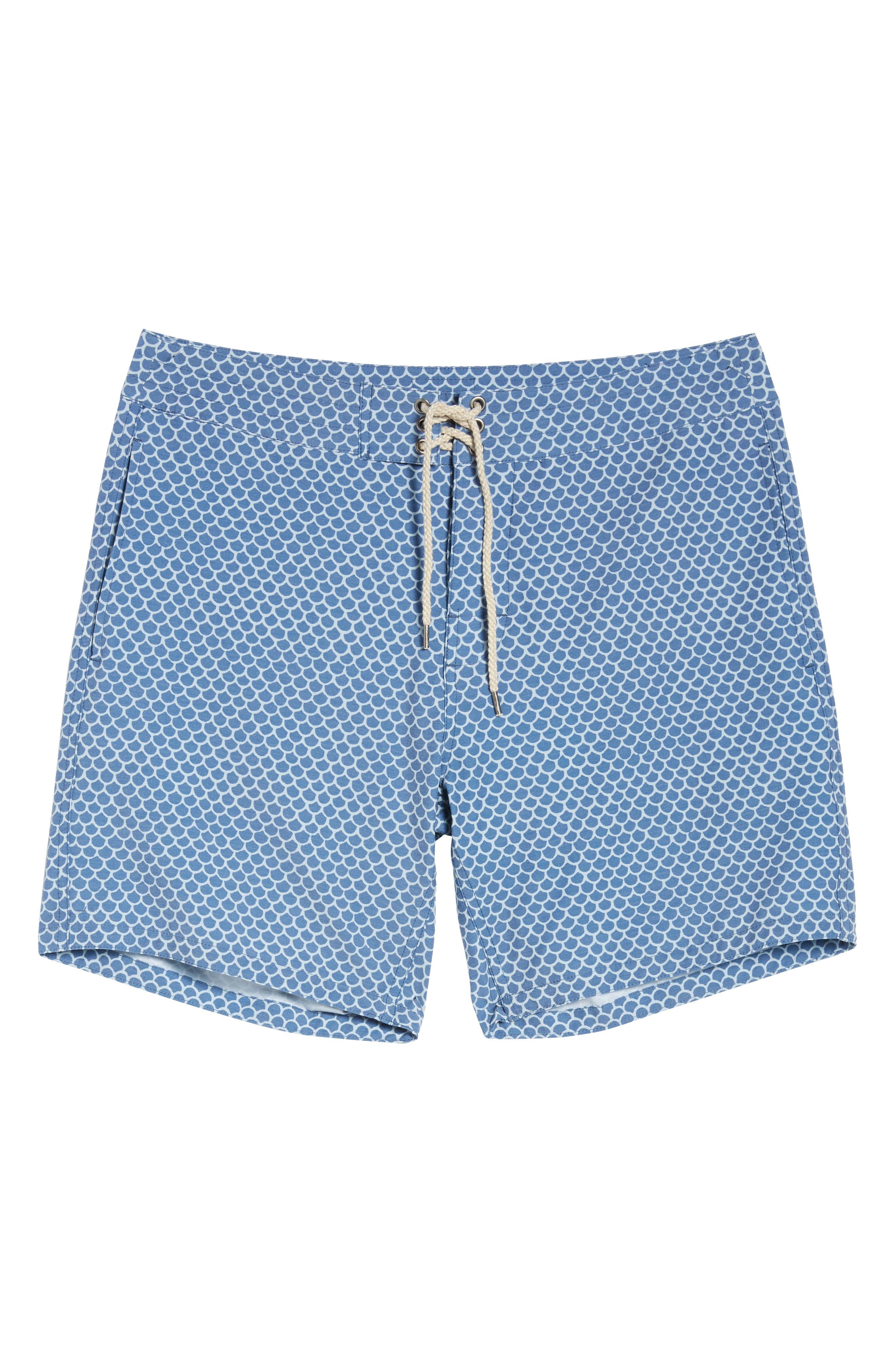 Classic Board Shorts,                             Alternate thumbnail 6, color,                             FISHSCALE BATIK