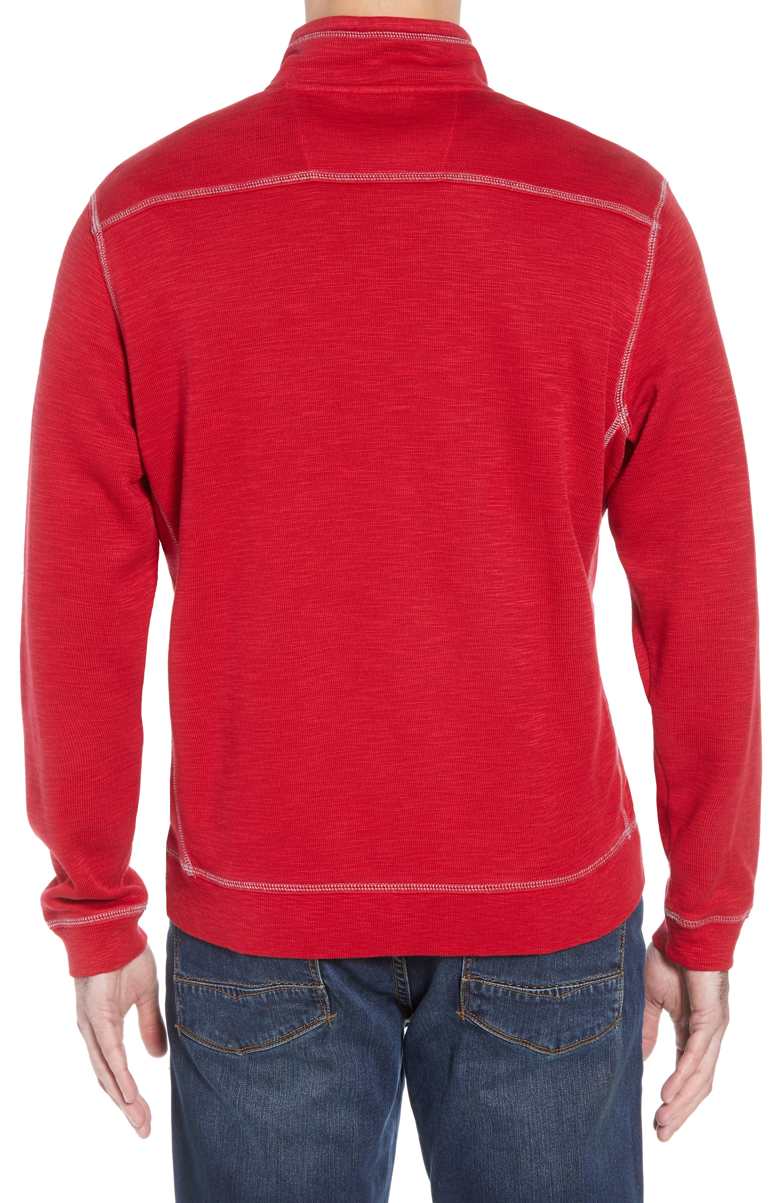 Tobago Bay Half Zip Pullover,                             Alternate thumbnail 2, color,                             SCOOTER RED
