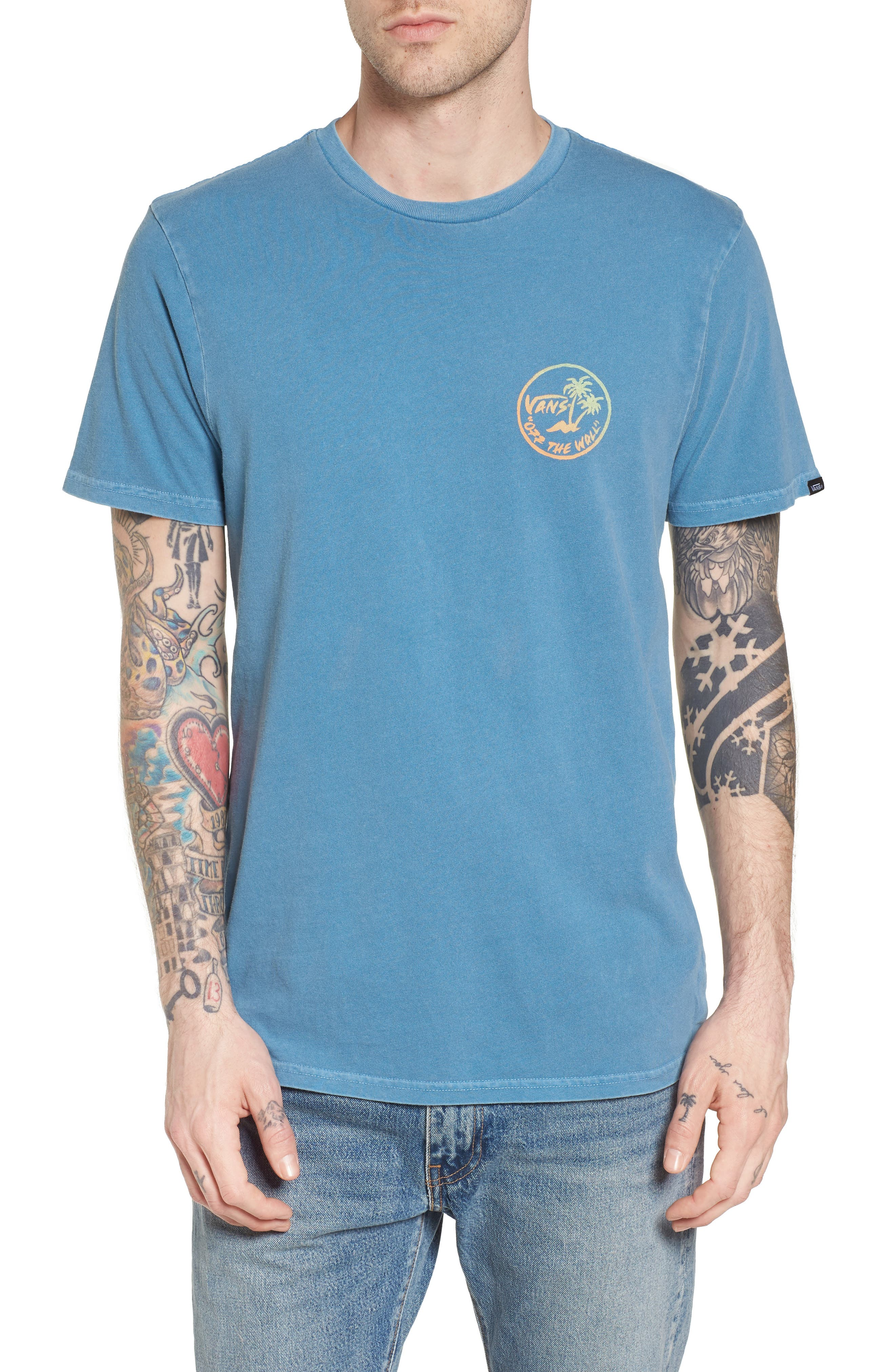 Vintage Palm Graphic T-Shirt,                         Main,                         color, 420
