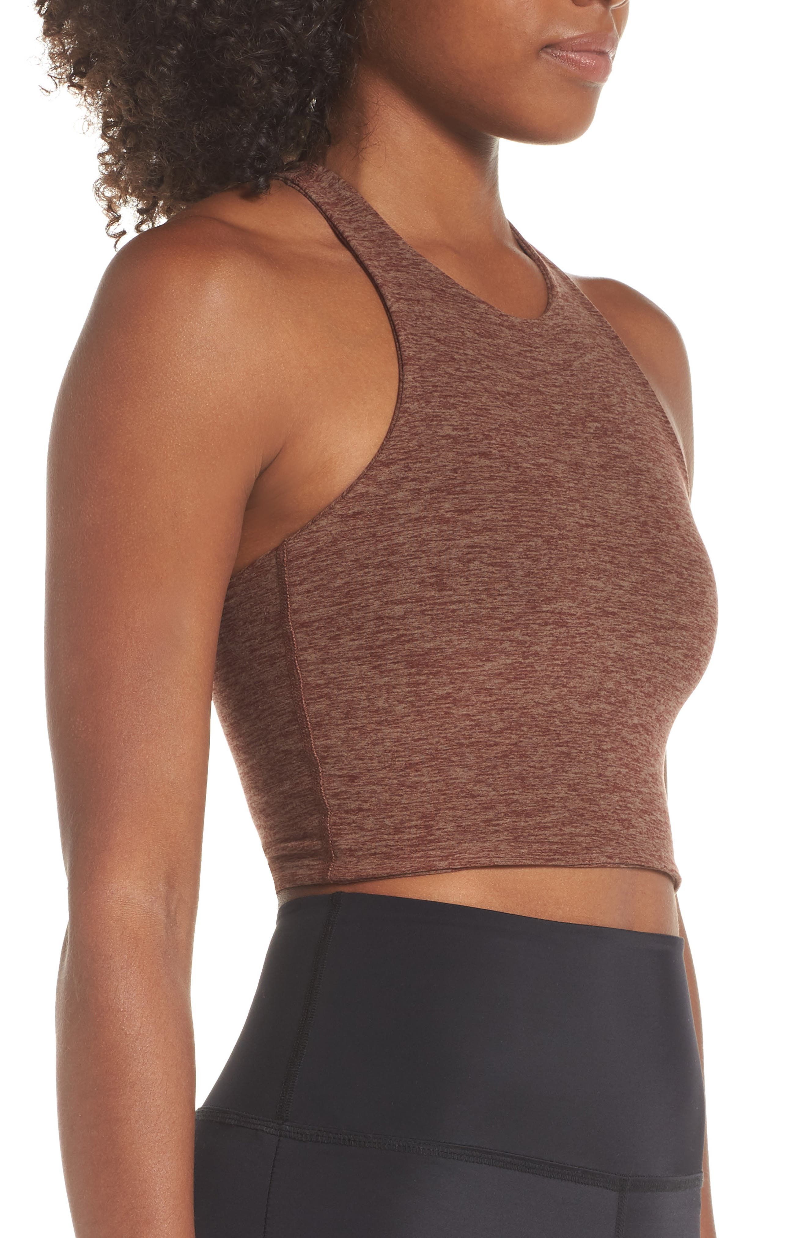 Across the Strap Cropped Top,                             Alternate thumbnail 3, color,                             RED ROCK/ TUMBLEWEED