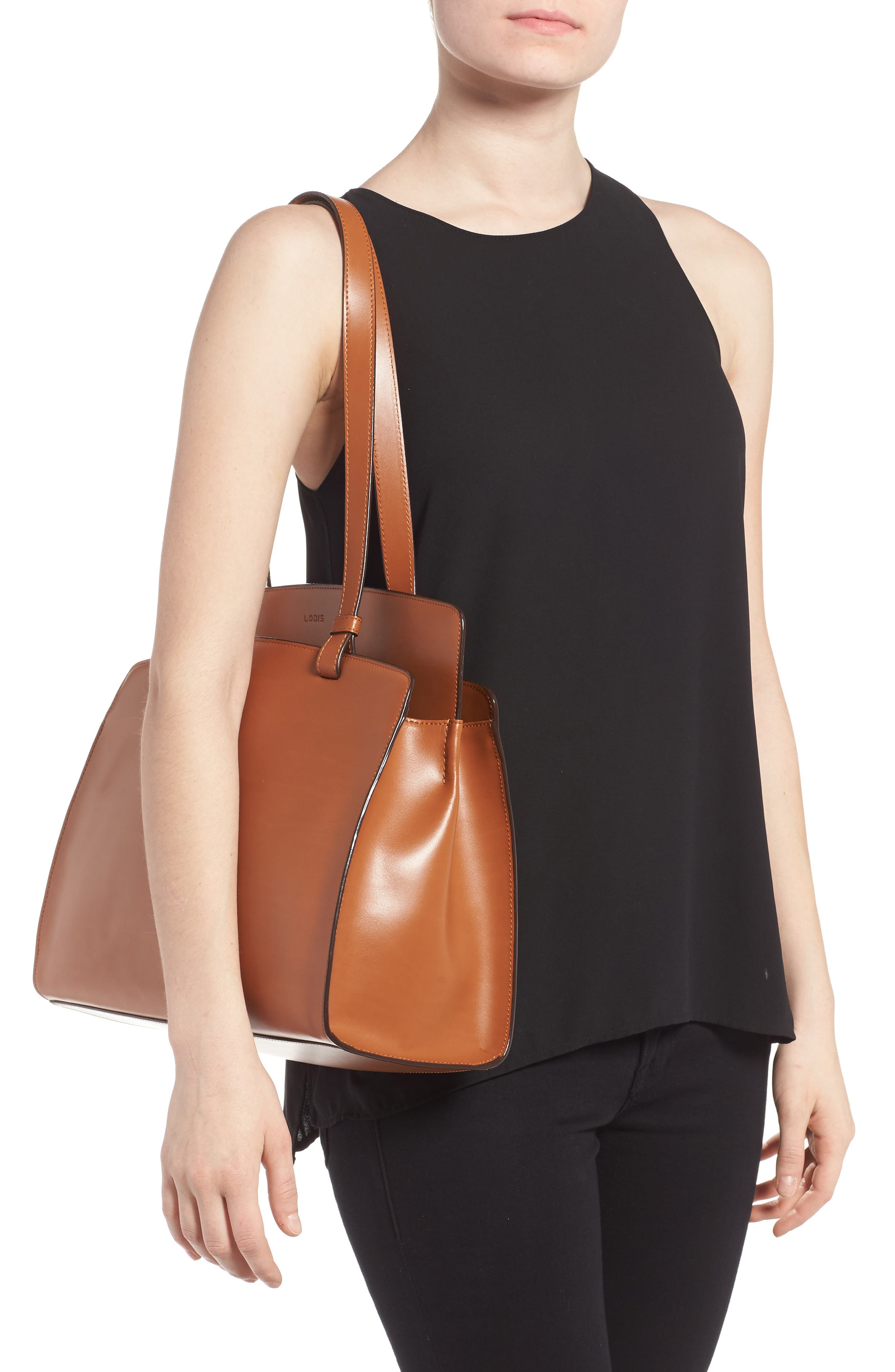 Lodis Audrey Collection - Jana Leather Tote,                             Alternate thumbnail 5, color,