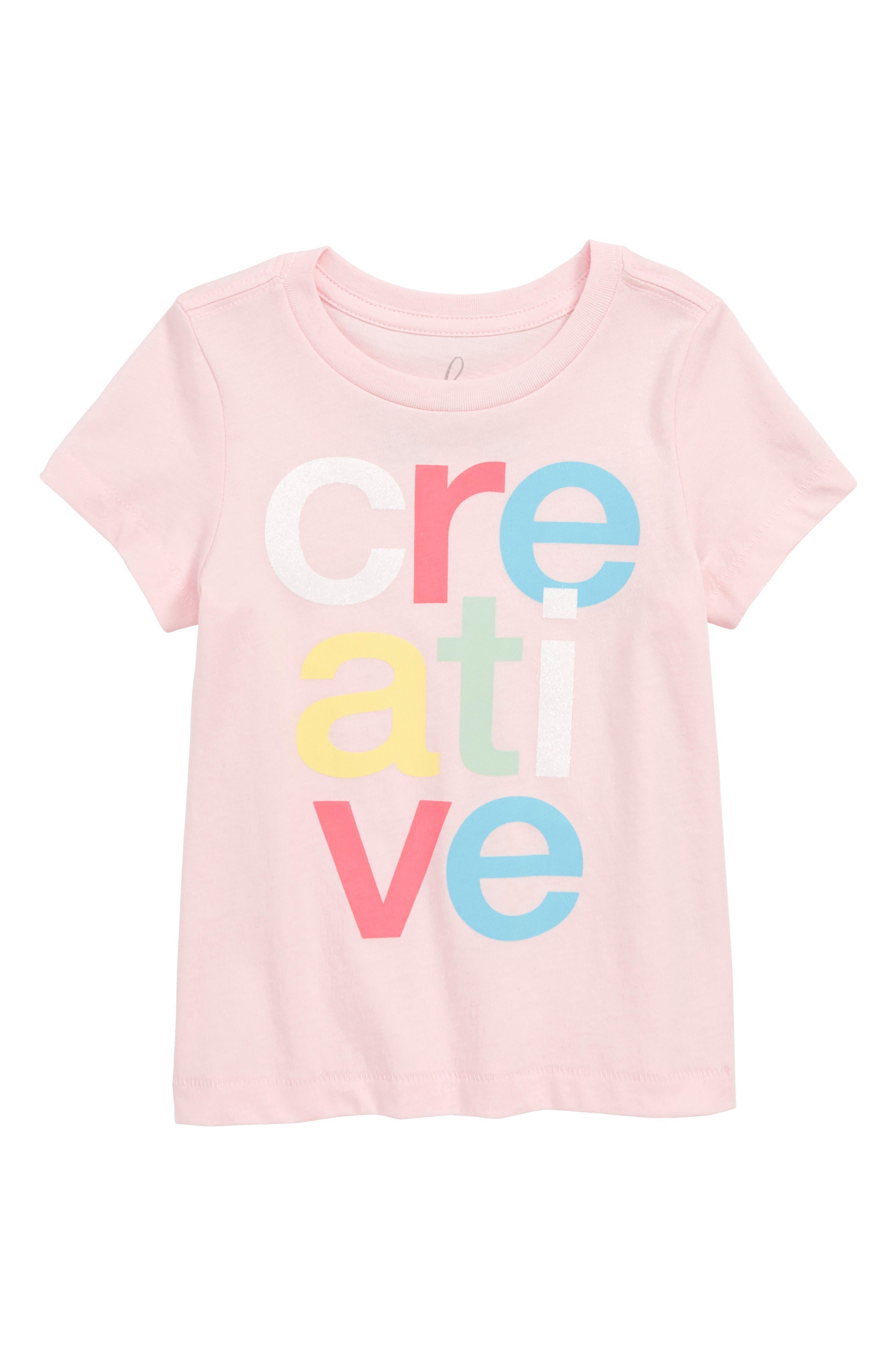 Creative Tee,                         Main,                         color, LIGHT PINK