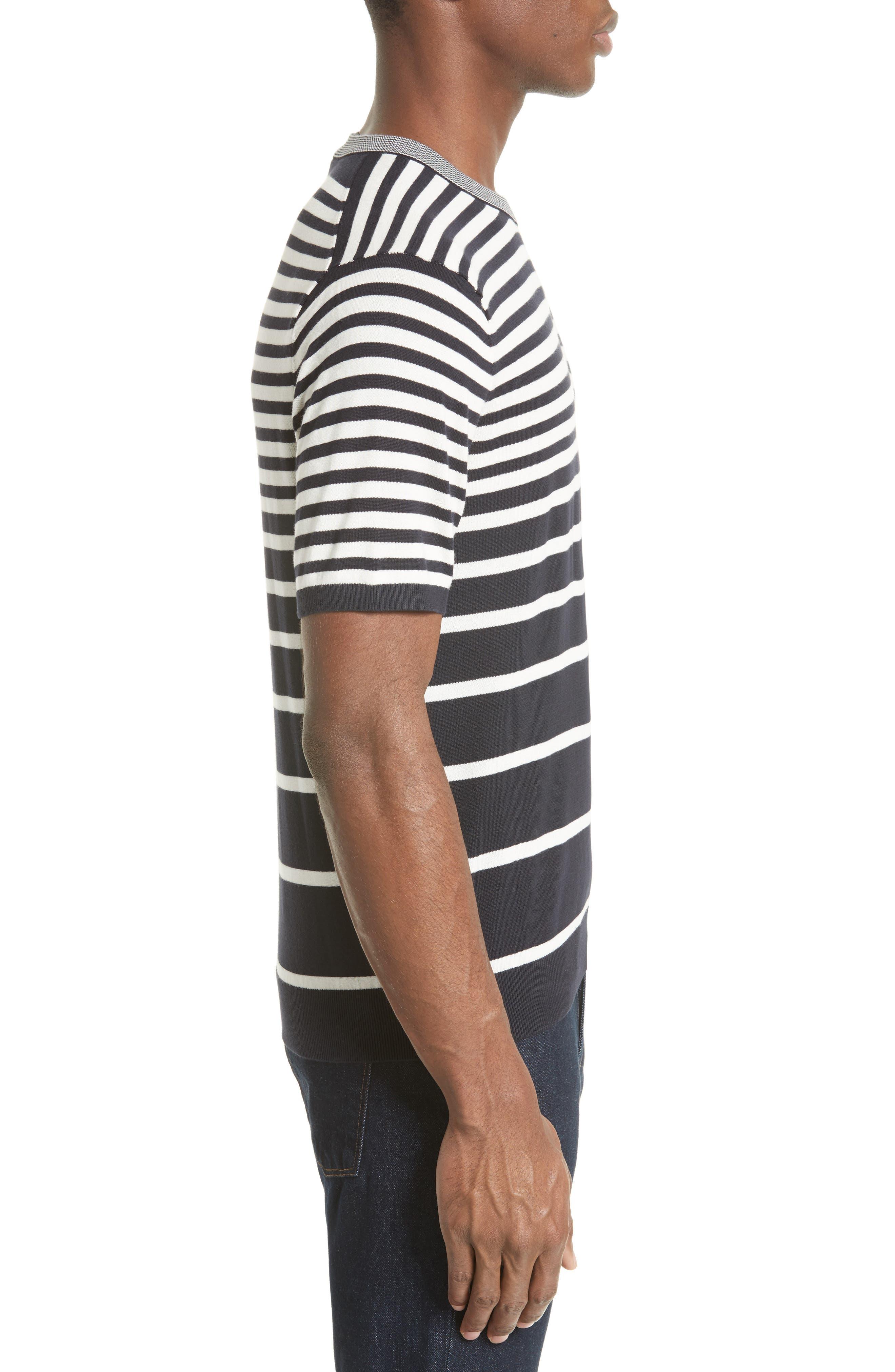 Variegated Stripe Sweater,                             Alternate thumbnail 3, color,                             410