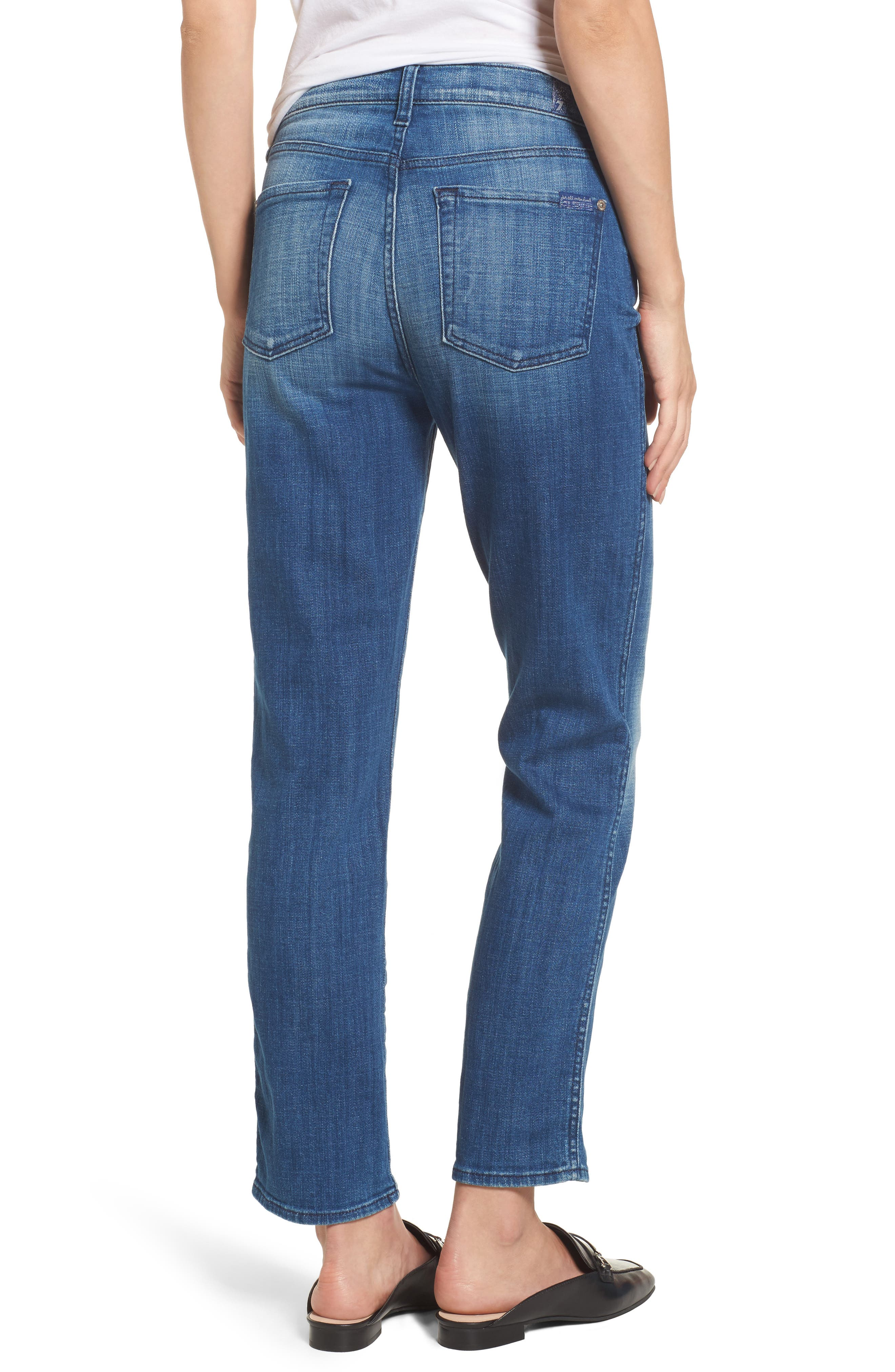 Edie High Waist Crop Jeans,                             Alternate thumbnail 2, color,                             400