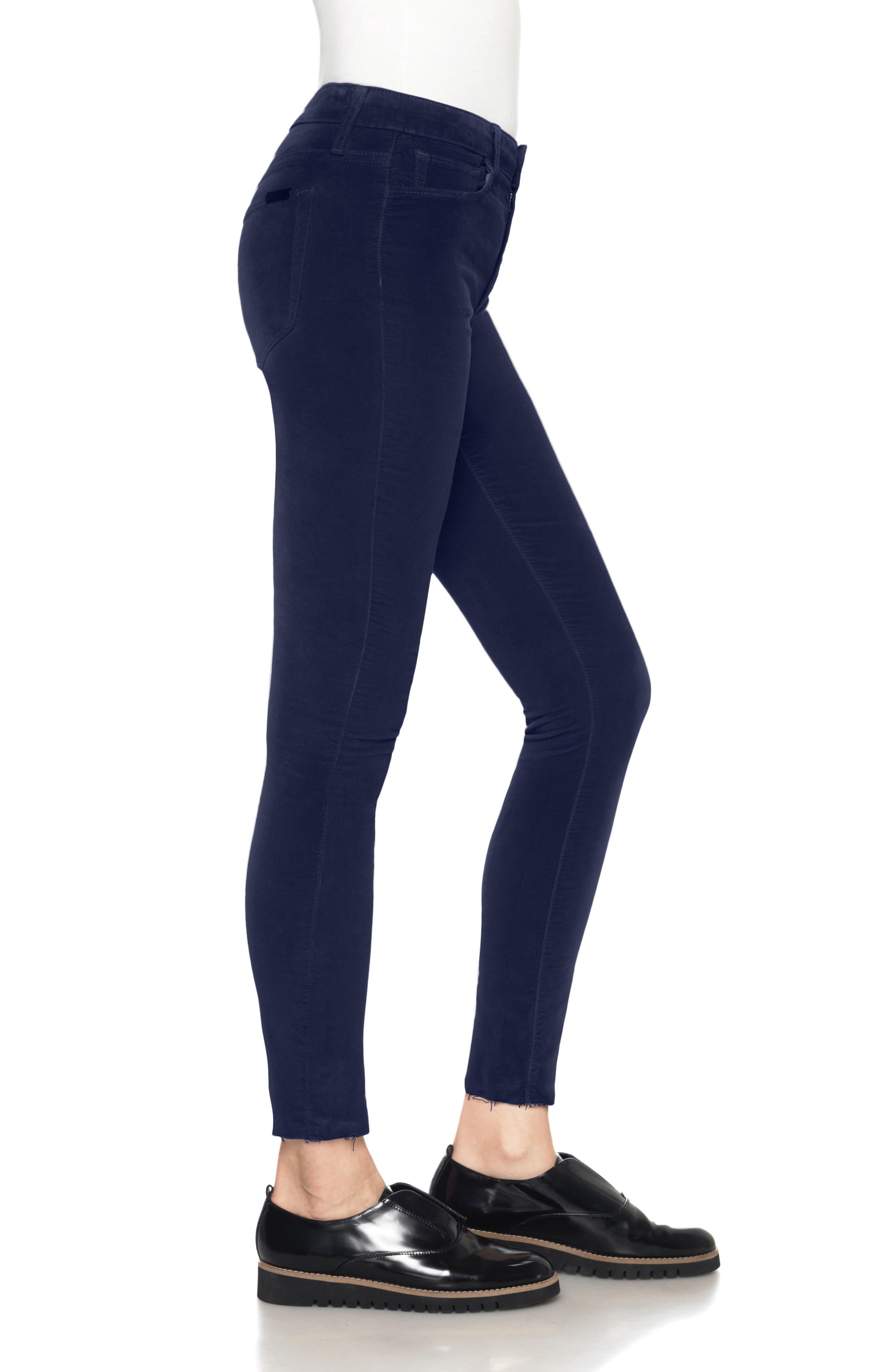 Icon Velvet Ankle Skinny Pants,                             Alternate thumbnail 15, color,
