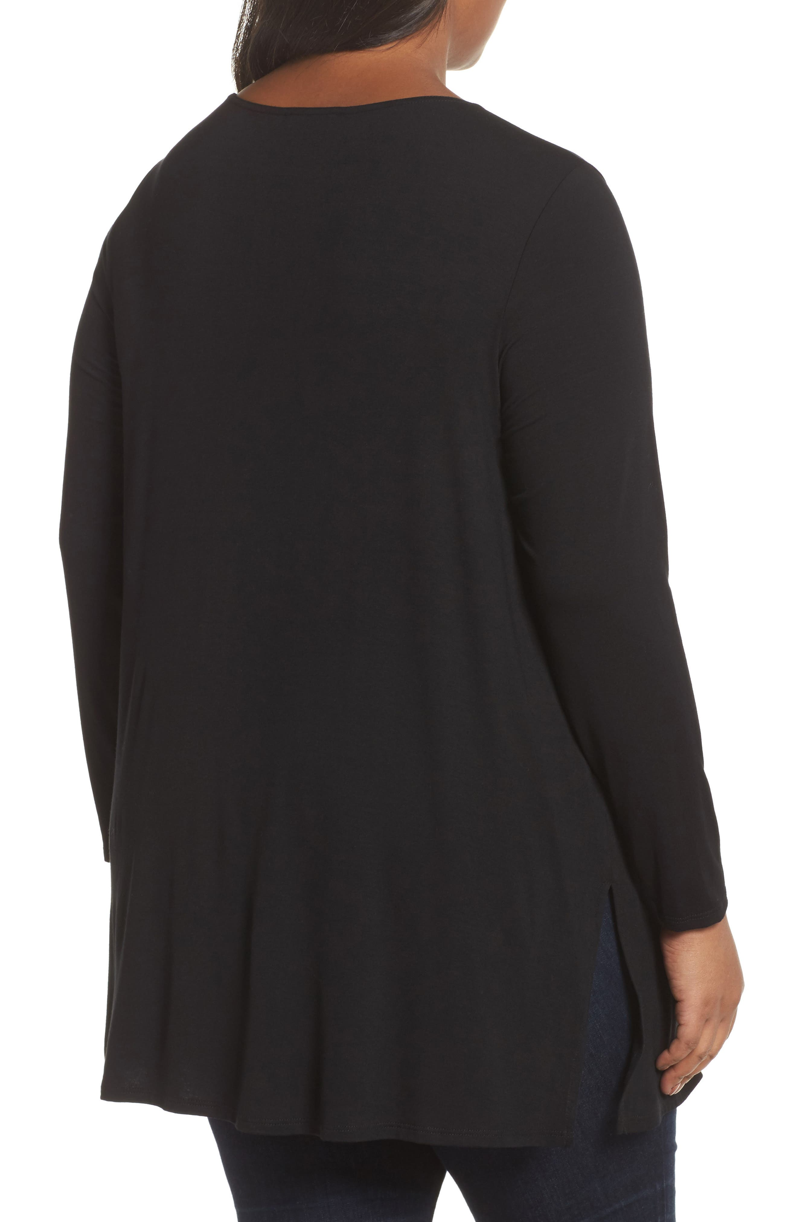 Round Neck Jersey Tunic,                             Alternate thumbnail 3, color,